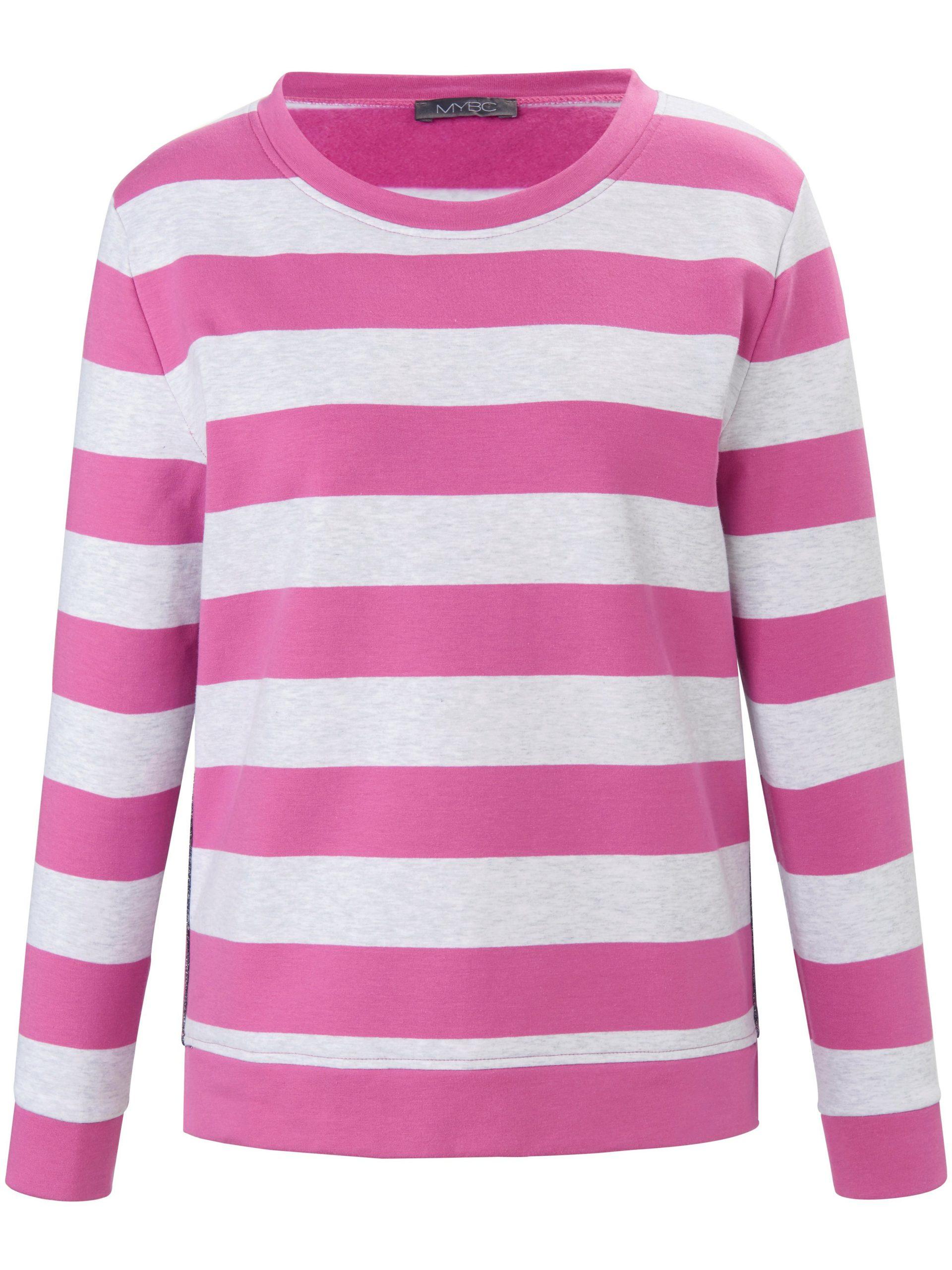 Sweatshirt met lange mouwen en zijsplitjes Van MYBC lichtroze Kopen