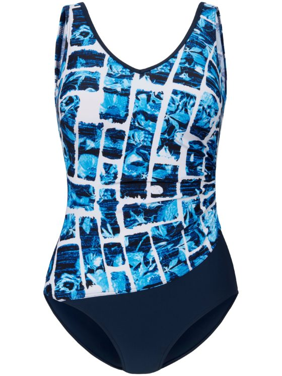 Badpak met grafische print Van Sunmarin blauw Kopen