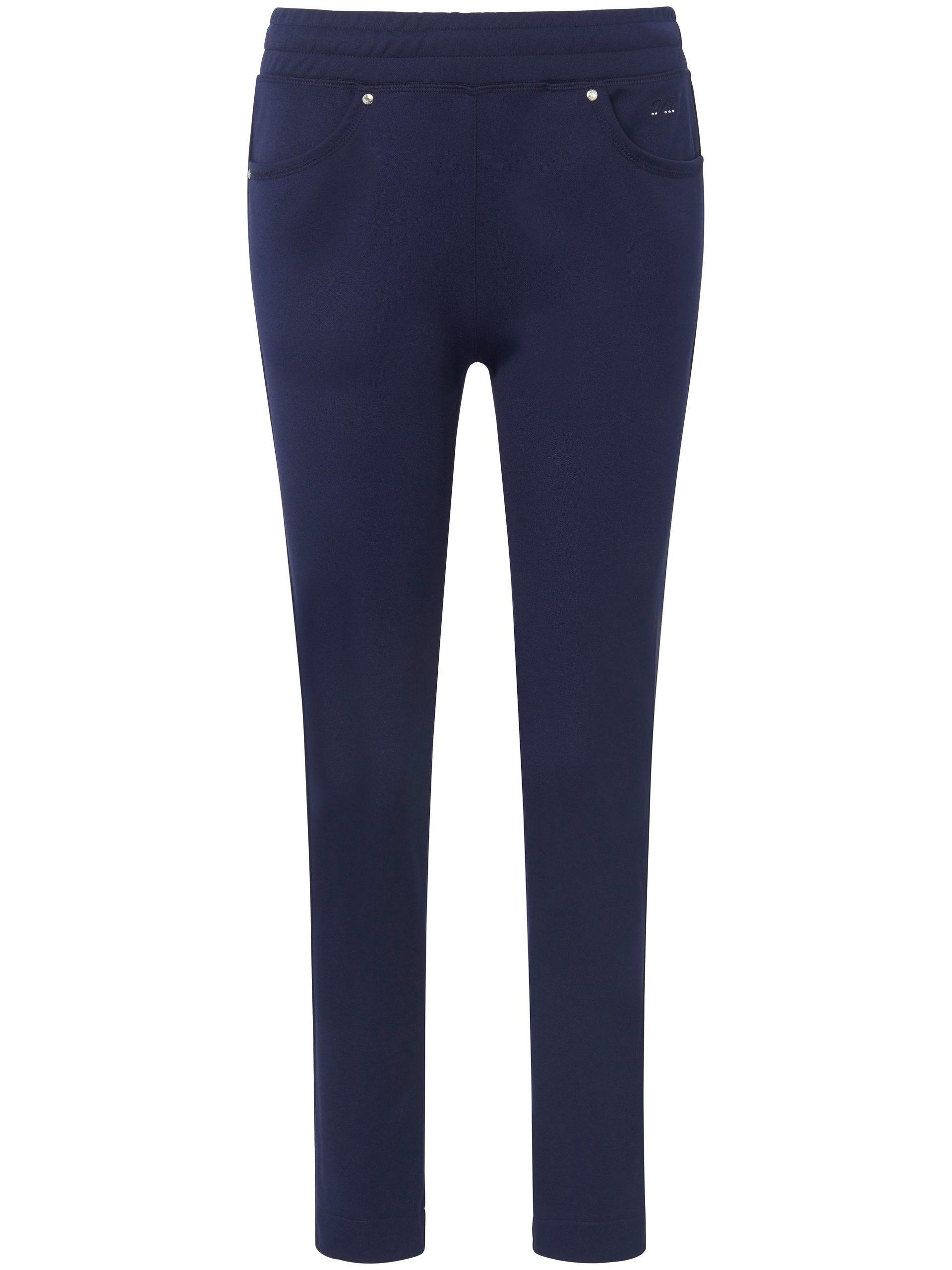 Enkellange broek met elastische band Van Canyon blauw Kopen