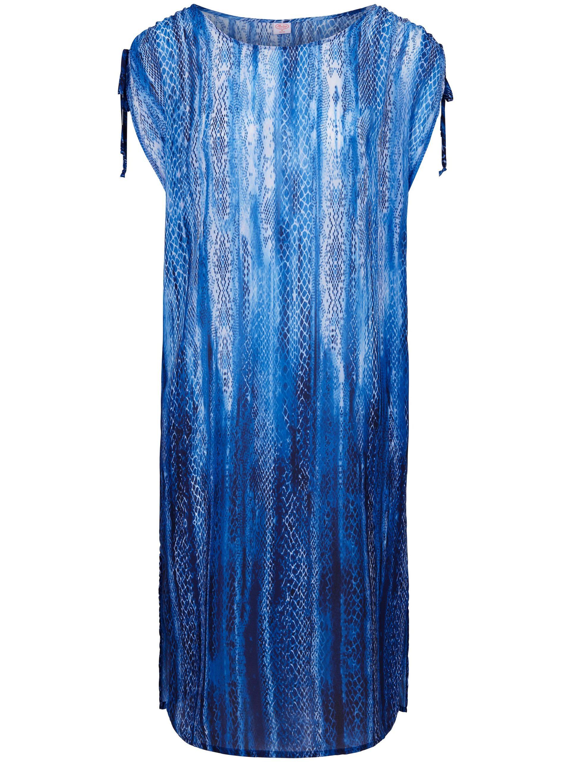 Jurk met verlaagde schoudernaden en snake-print Van Anita blauw Kopen