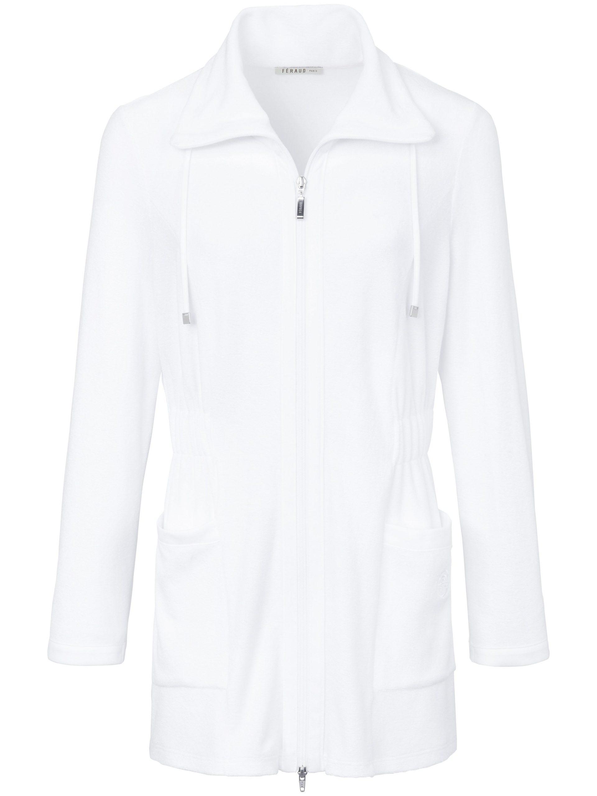 Licht badstofpak met een jasje met lange mouwen Van Féraud wit Kopen