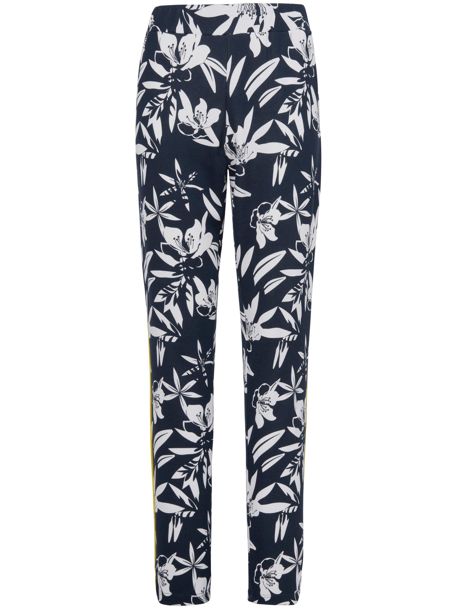 Lange broek elastische band en steekzakken Van MYBC blauw Kopen