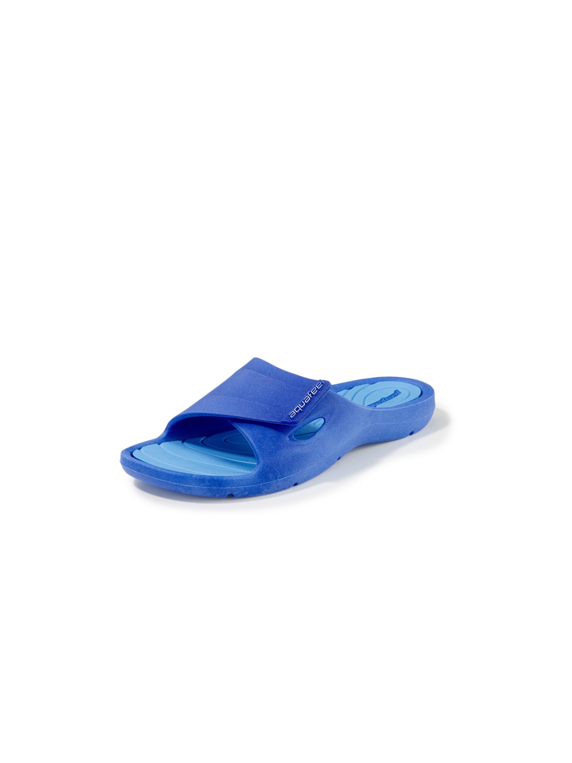 Badslippers met antislip-loopzool Van Aquafeel blauw Kopen
