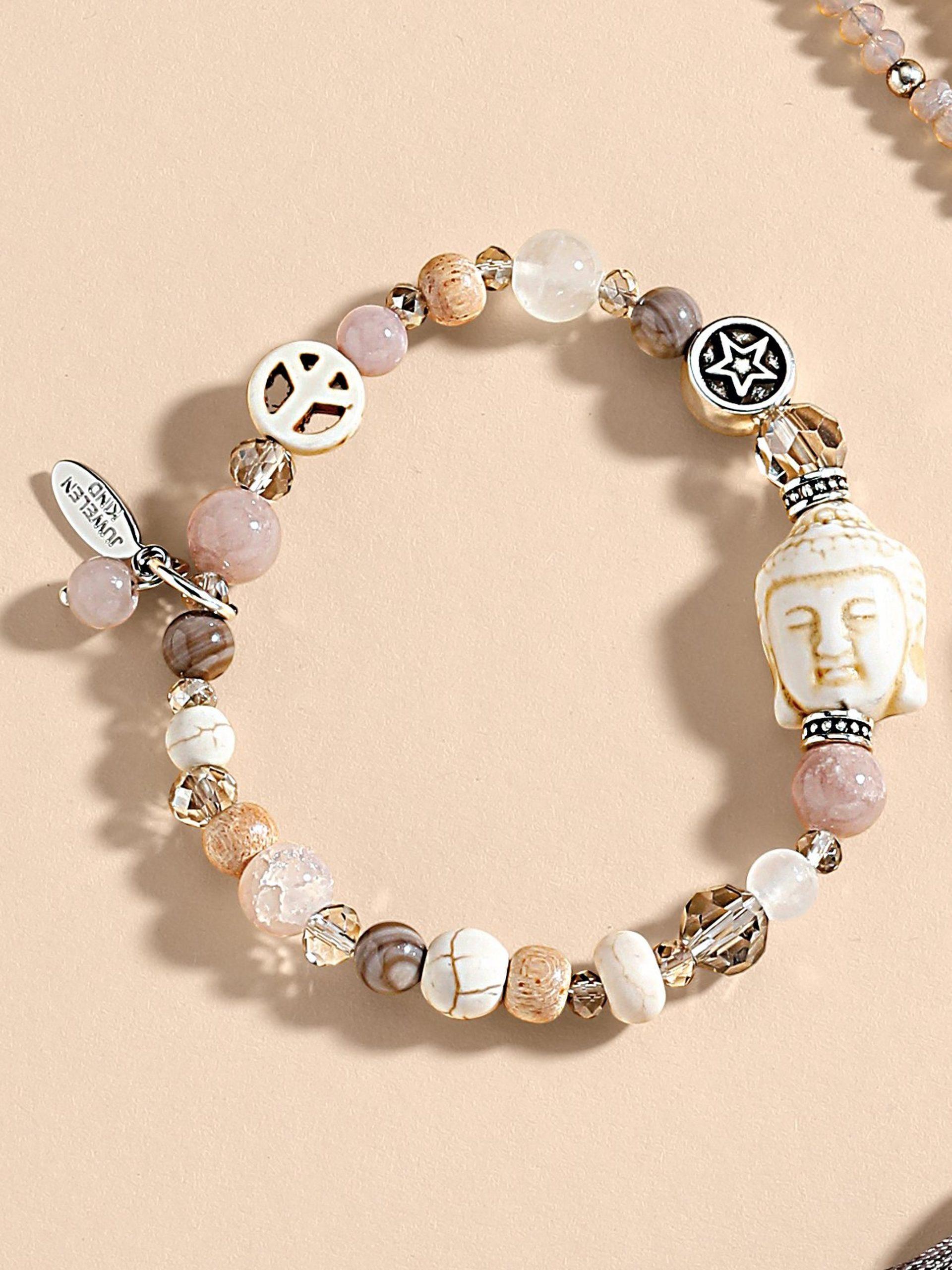 Armband Juli in hippiestijl Van Juwelenkind beige Kopen