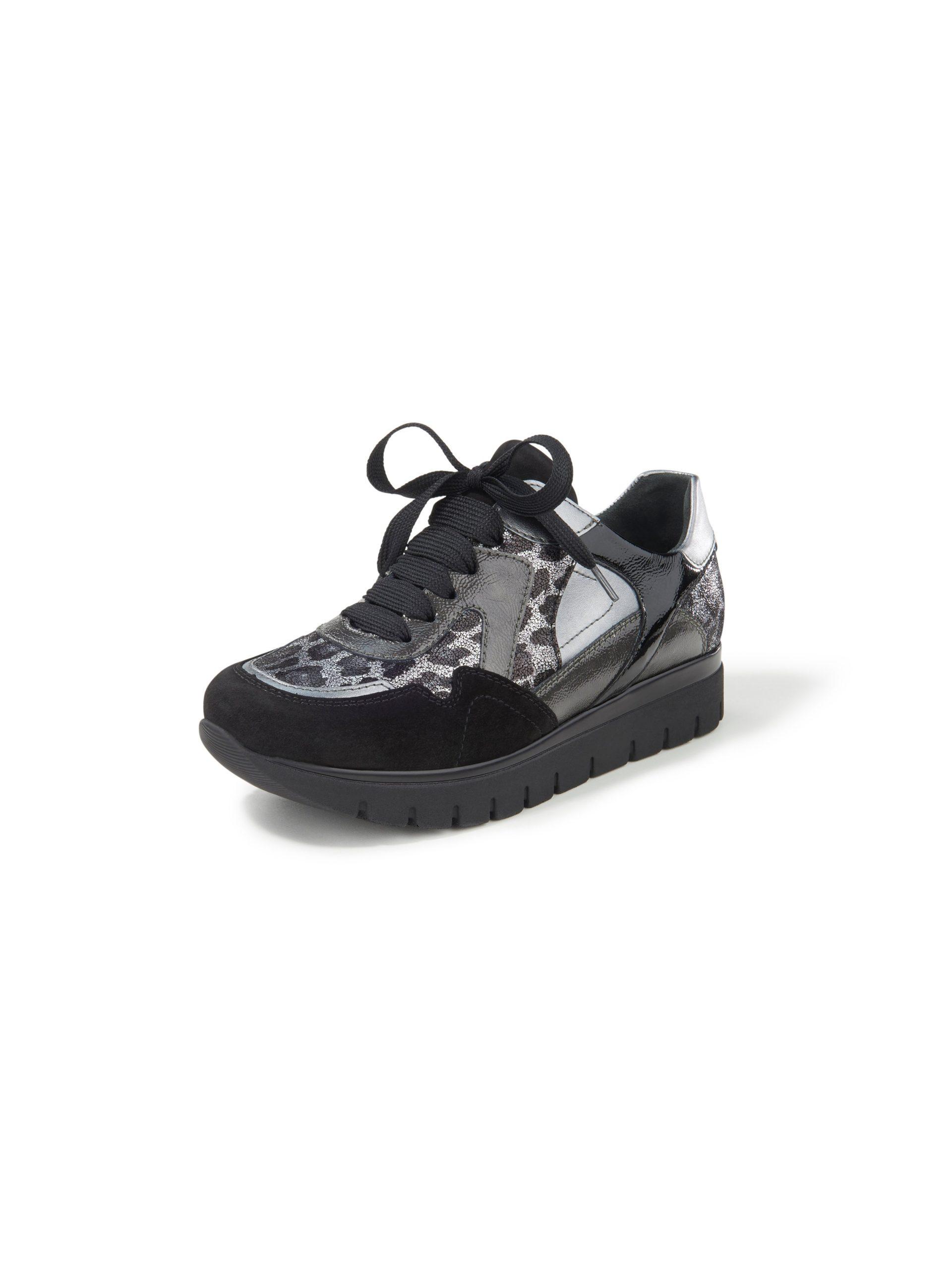 Sneakers Silvia met lakleren details Van Semler zwart Kopen