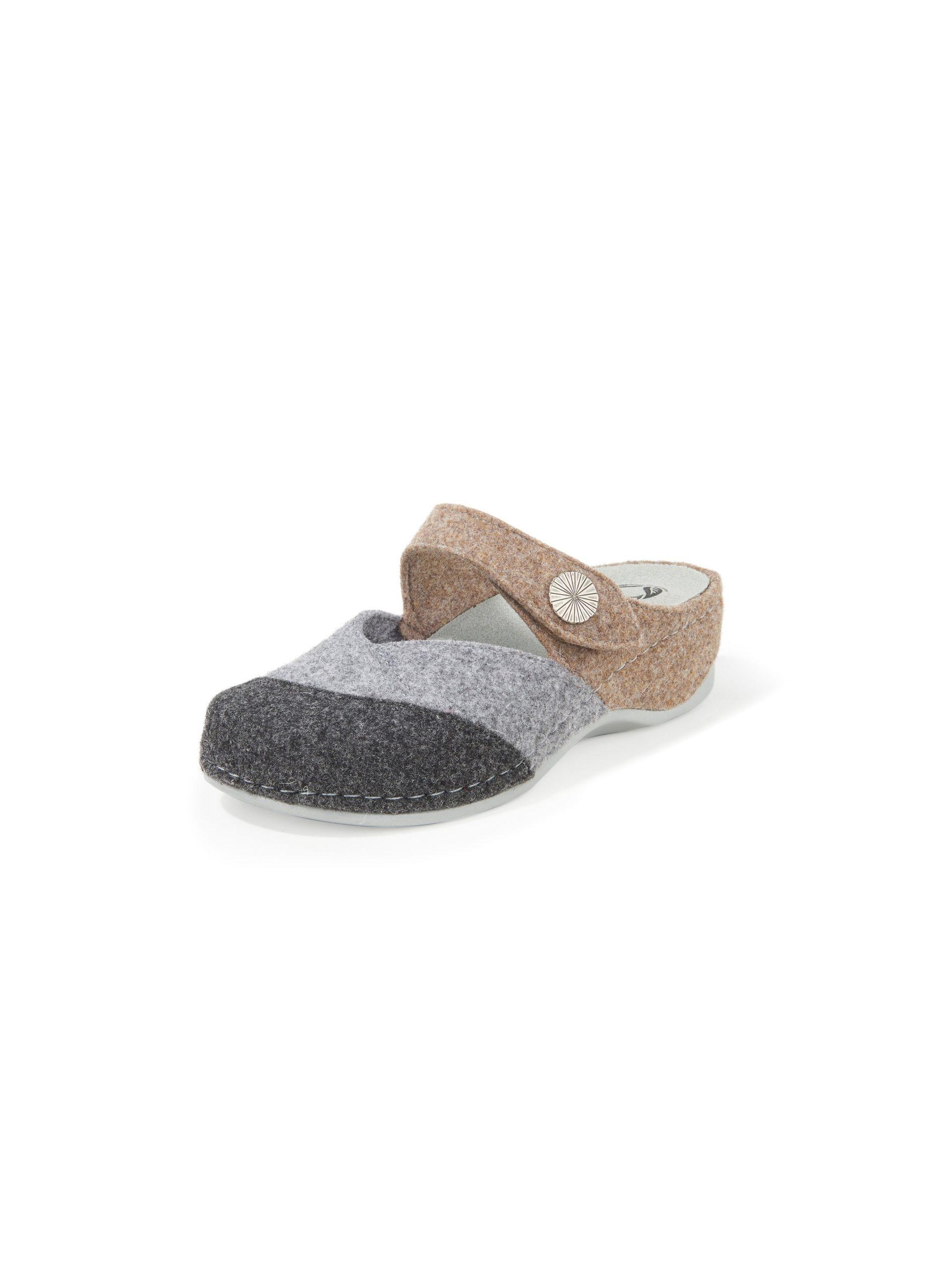 Pantoffels van wolvilt met gel-memory-voetbed Van MUBB multicolour Kopen