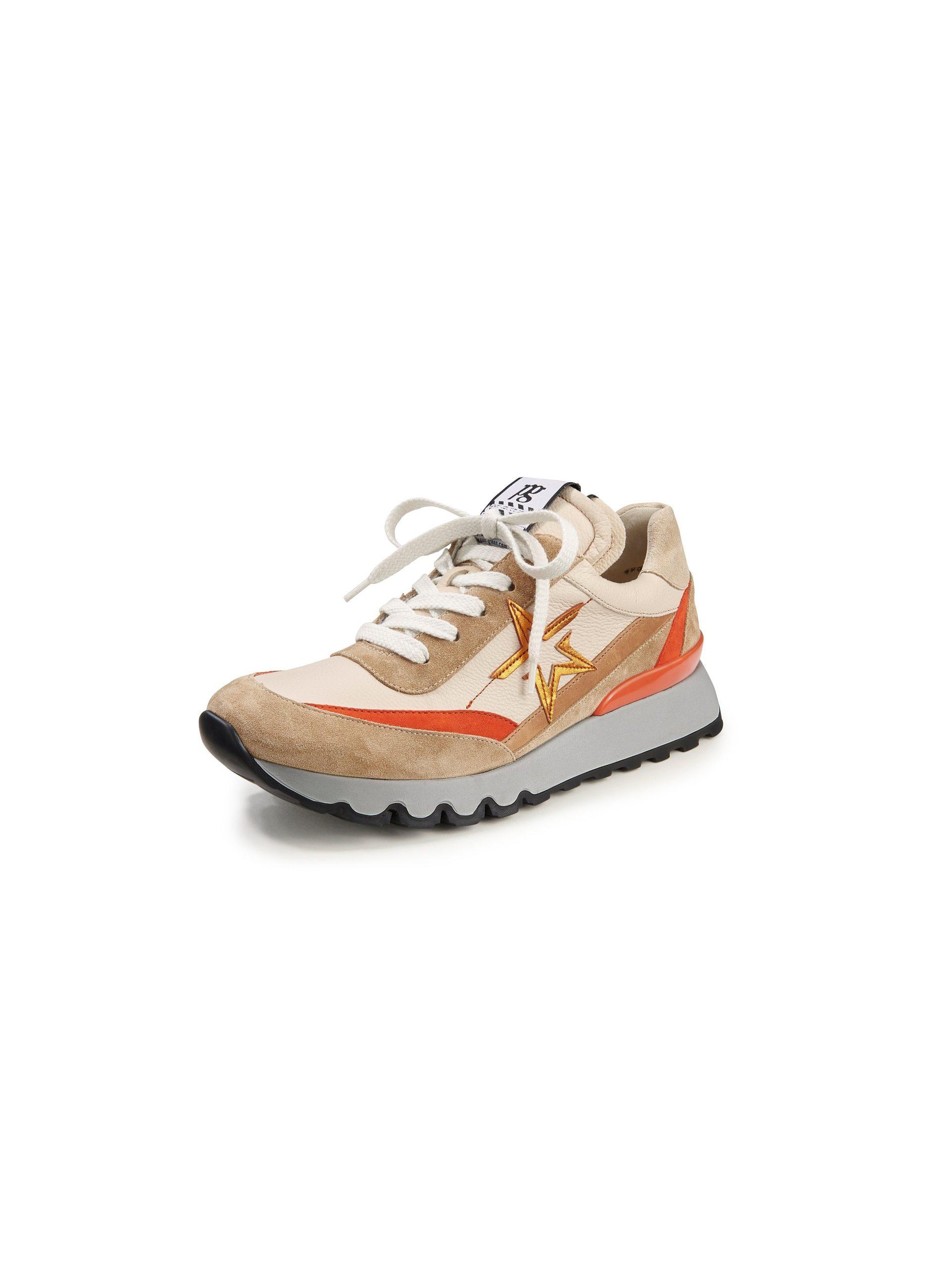 Sneakers van kalfsnappaleer met suèdeleer Van Paul Green multicolour Kopen