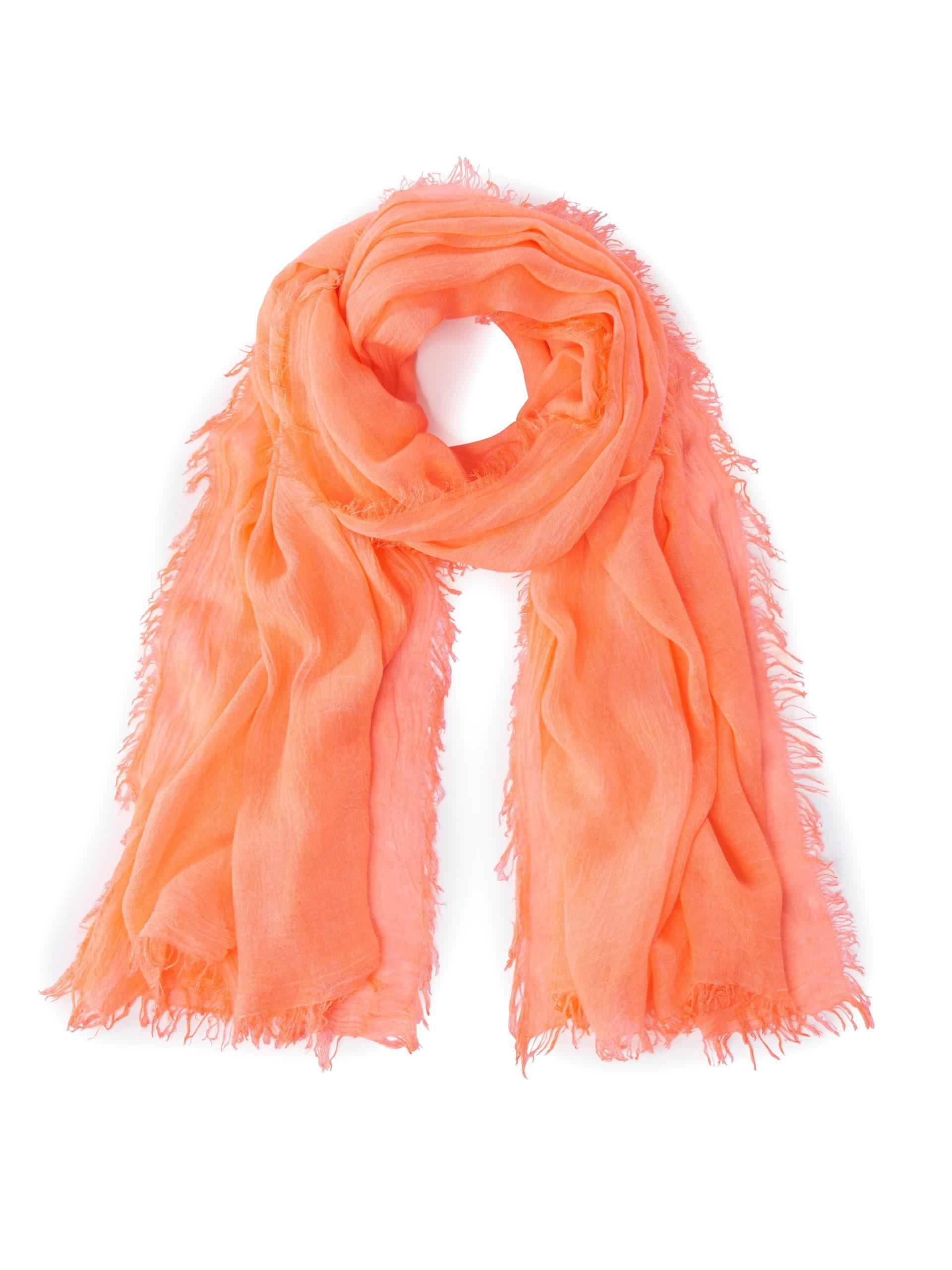 Sjaal met franje rondom Van MYBC oranje Kopen