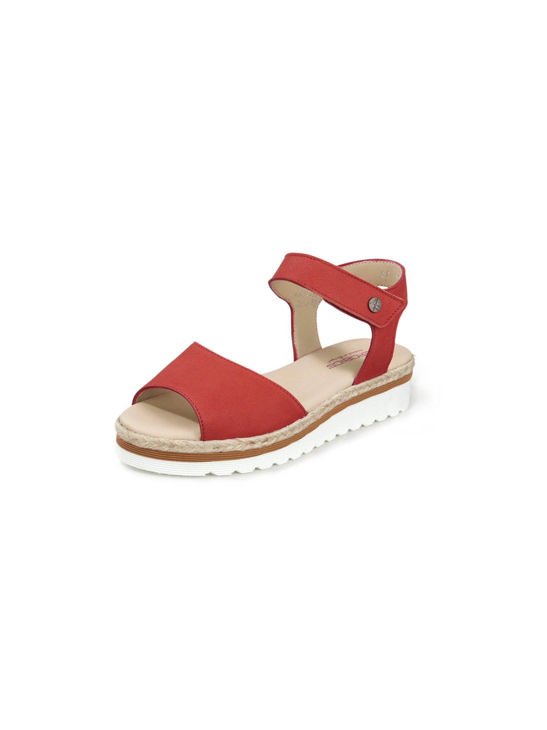 Sandaaltjes Tusk van rundnubuckleer Van Aerobics rood Kopen