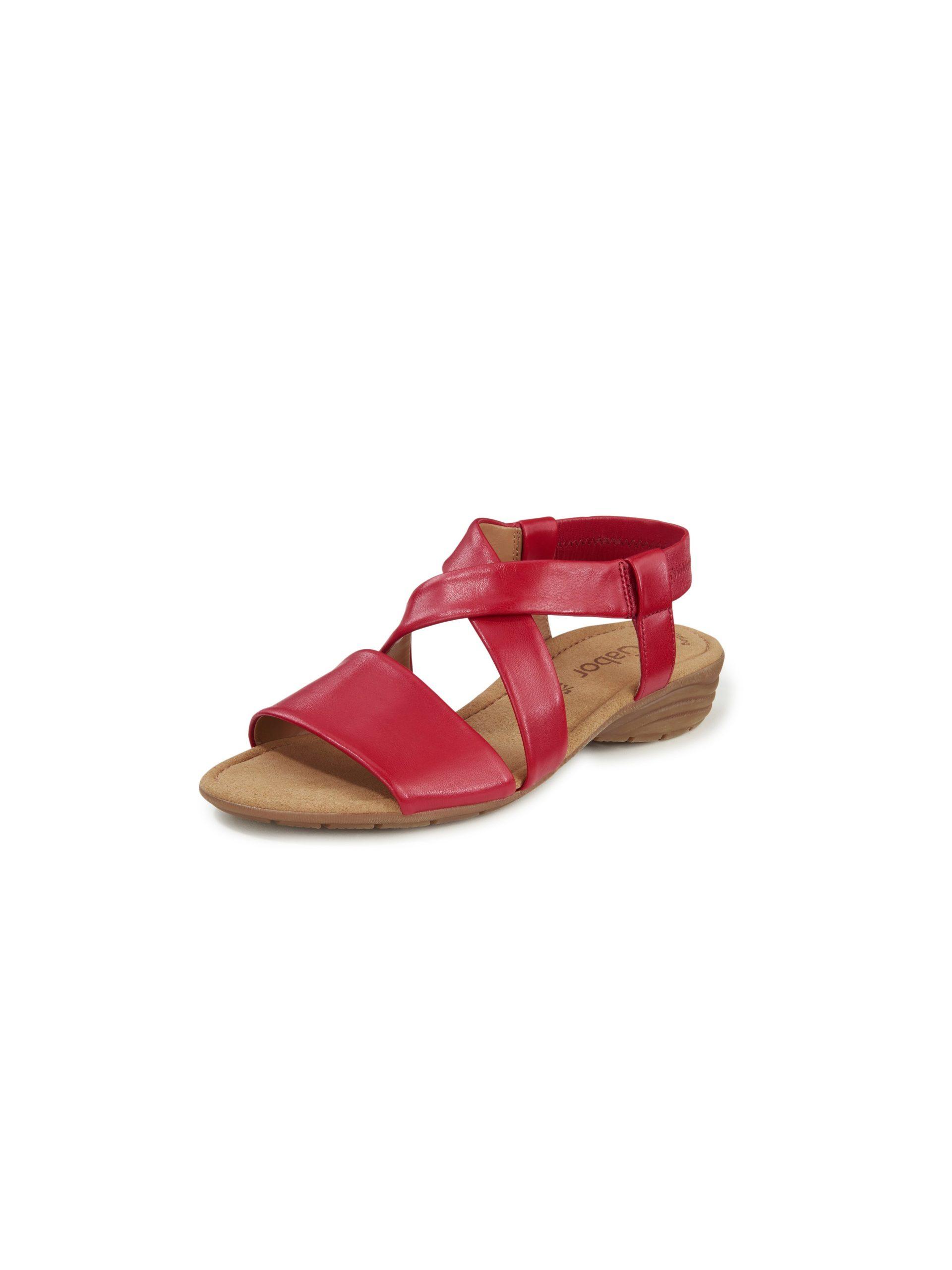 Sandaaltjes van lamsnappaleer Van Gabor rood Kopen