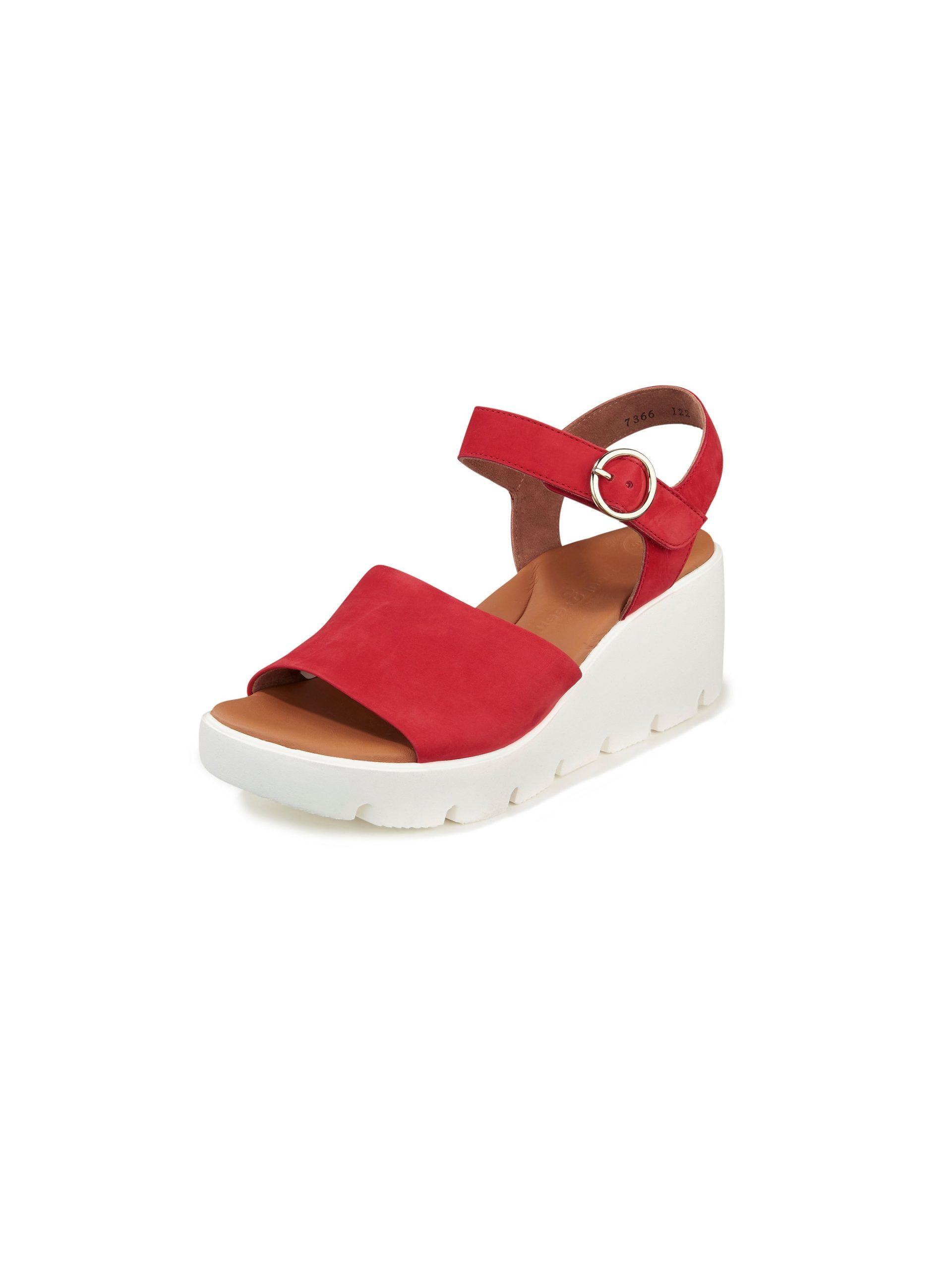 Sandaaltjes van nubuckleer Van Paul Green rood Kopen