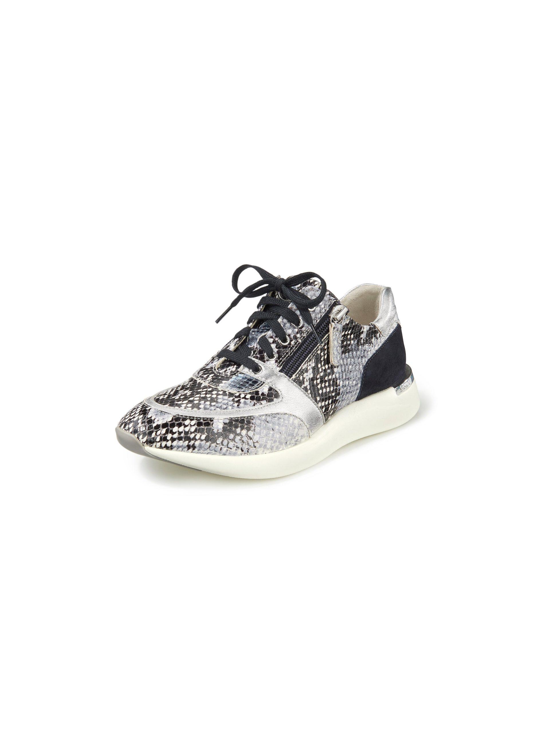 Sneakers van kalfsleer met folieprint Van Sioux multicolour Kopen