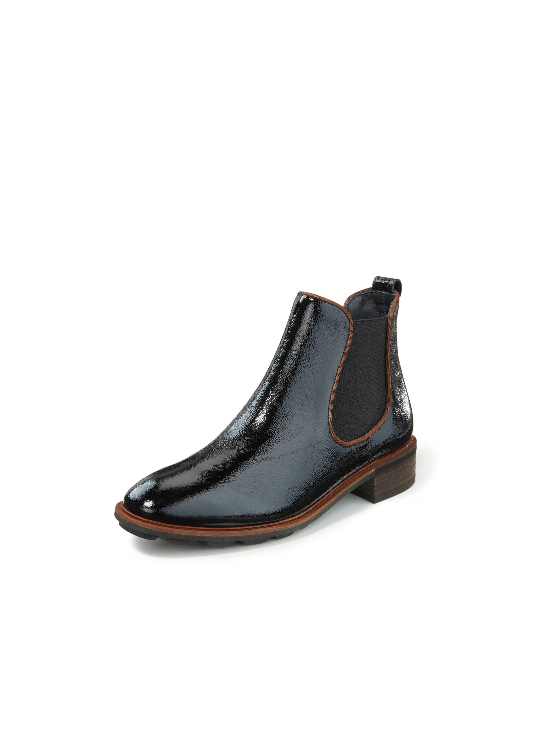 Chelsea-boots van gekreukt kalfslakleer Van Paul Green zwart Kopen