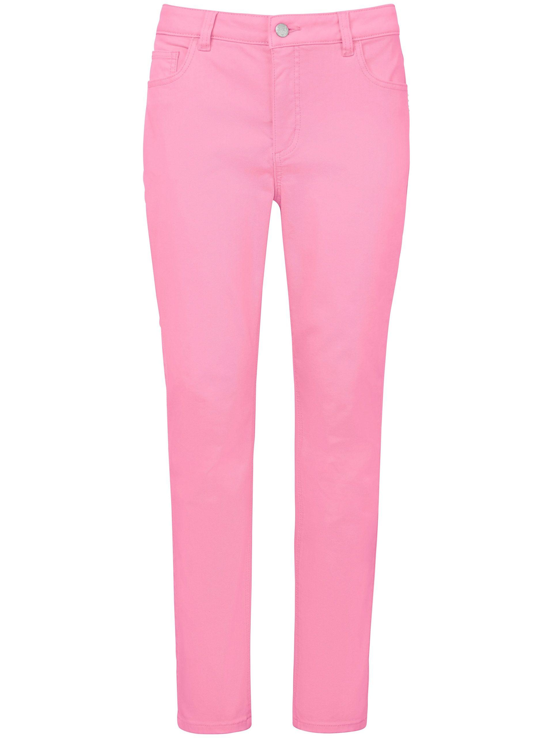 Enkellange jeans met smalle pijpen Van MYBC roze Kopen