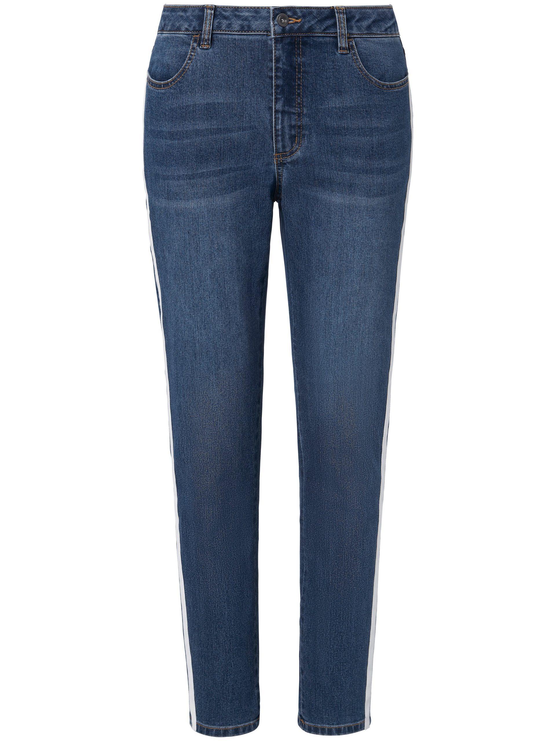 7/8-jeans met bandje langs de zijnaden Van Emilia Lay denim Kopen