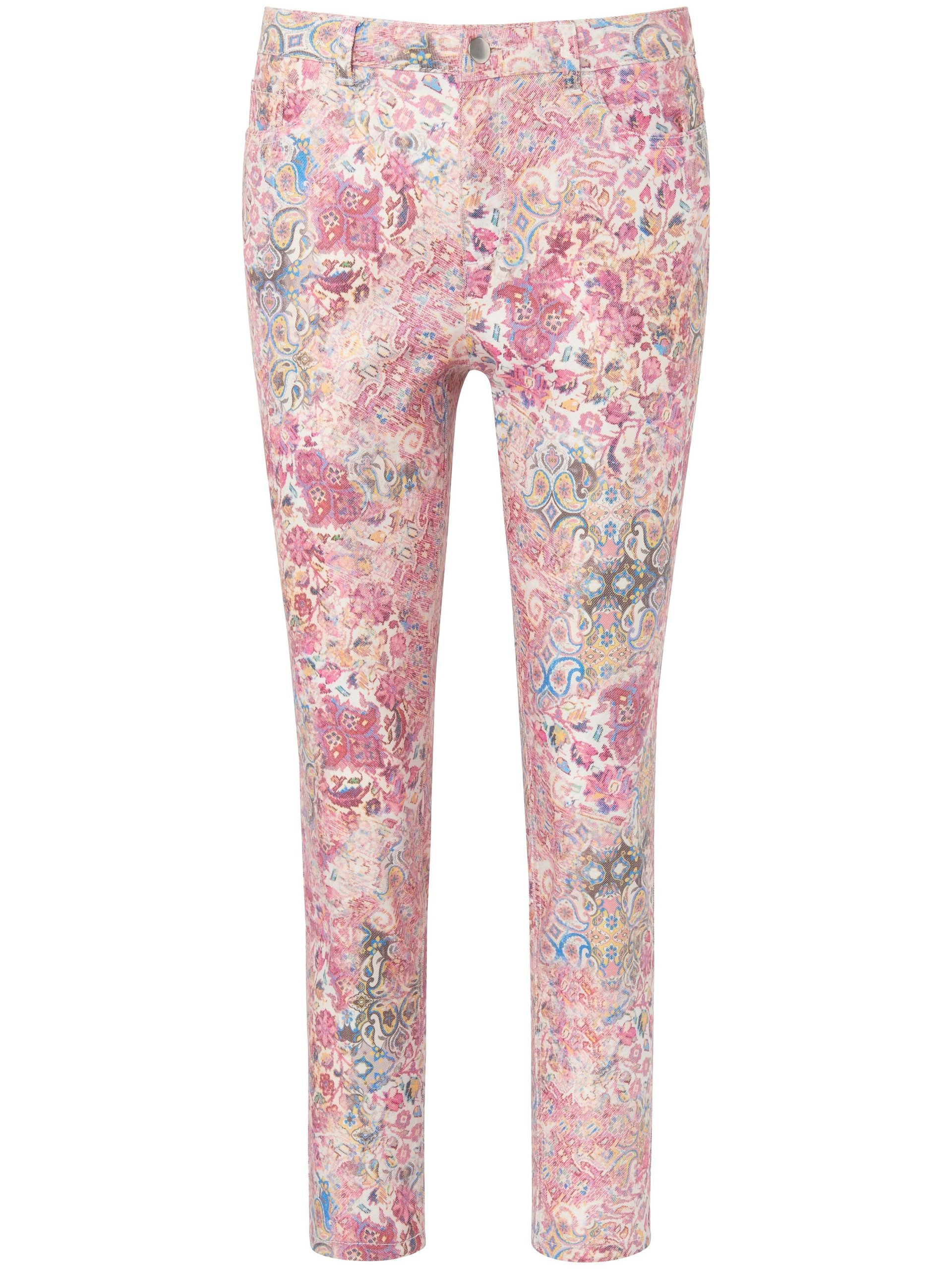 Enkellange broek met bloemenprint Van MYBC roze Kopen