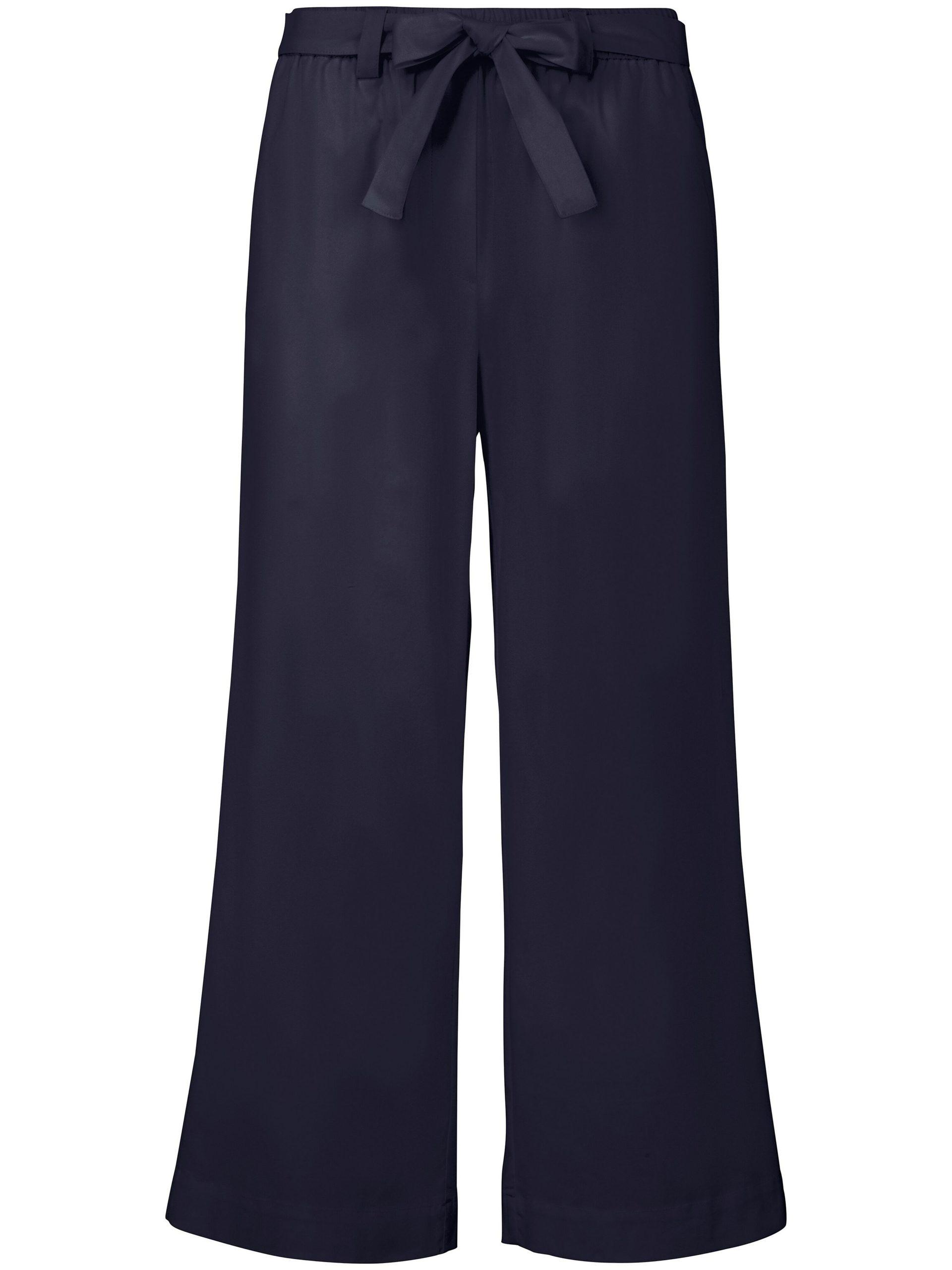 7/8-broek pasvorm Cornelia met wijde pijpen Van MYBC blauw Kopen