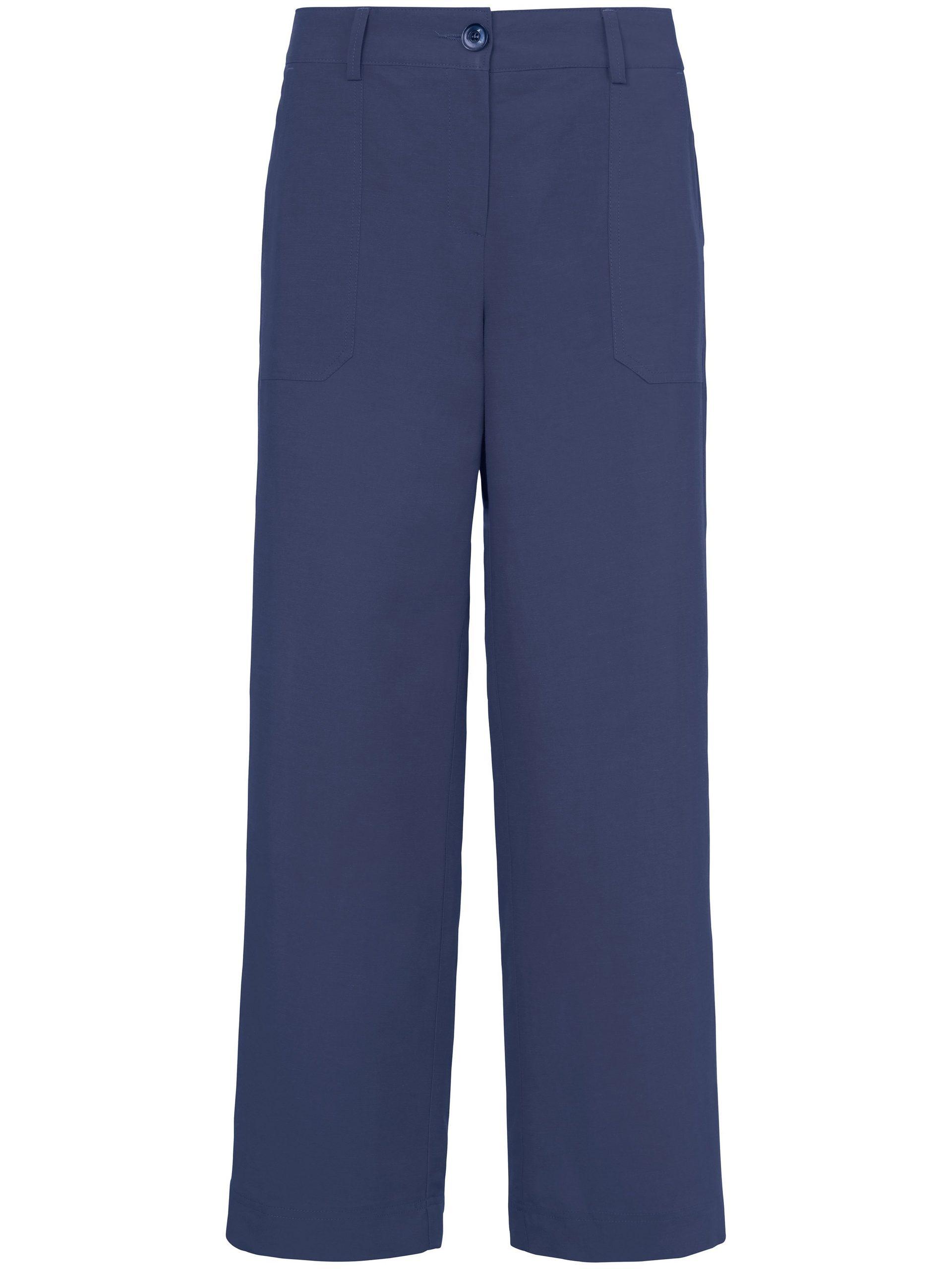 7/8-broek pasvorm Cornelia met opgestikte zakken Van Peter Hahn blauw Kopen