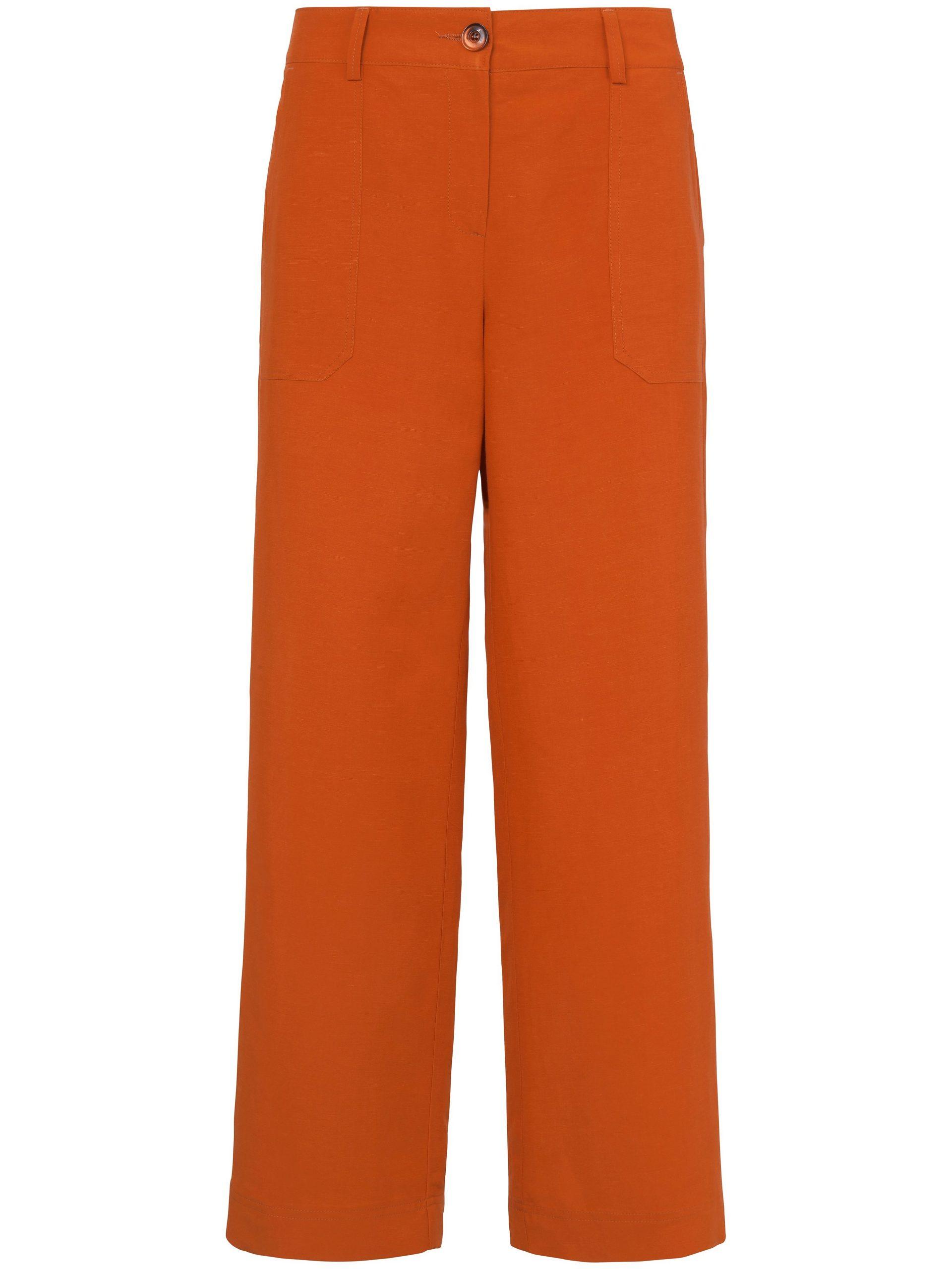 7/8-broek pasvorm Cornelia met opgestikte zakken Van Peter Hahn oranje Kopen