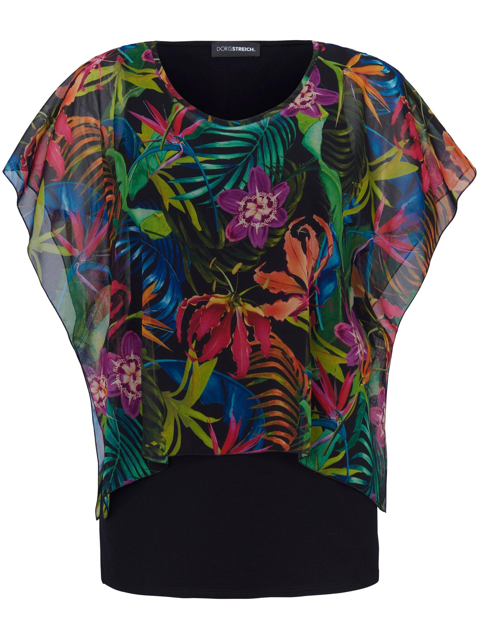 2-in-1-blouse met korte mouwen Van Doris Streich multicolour Kopen