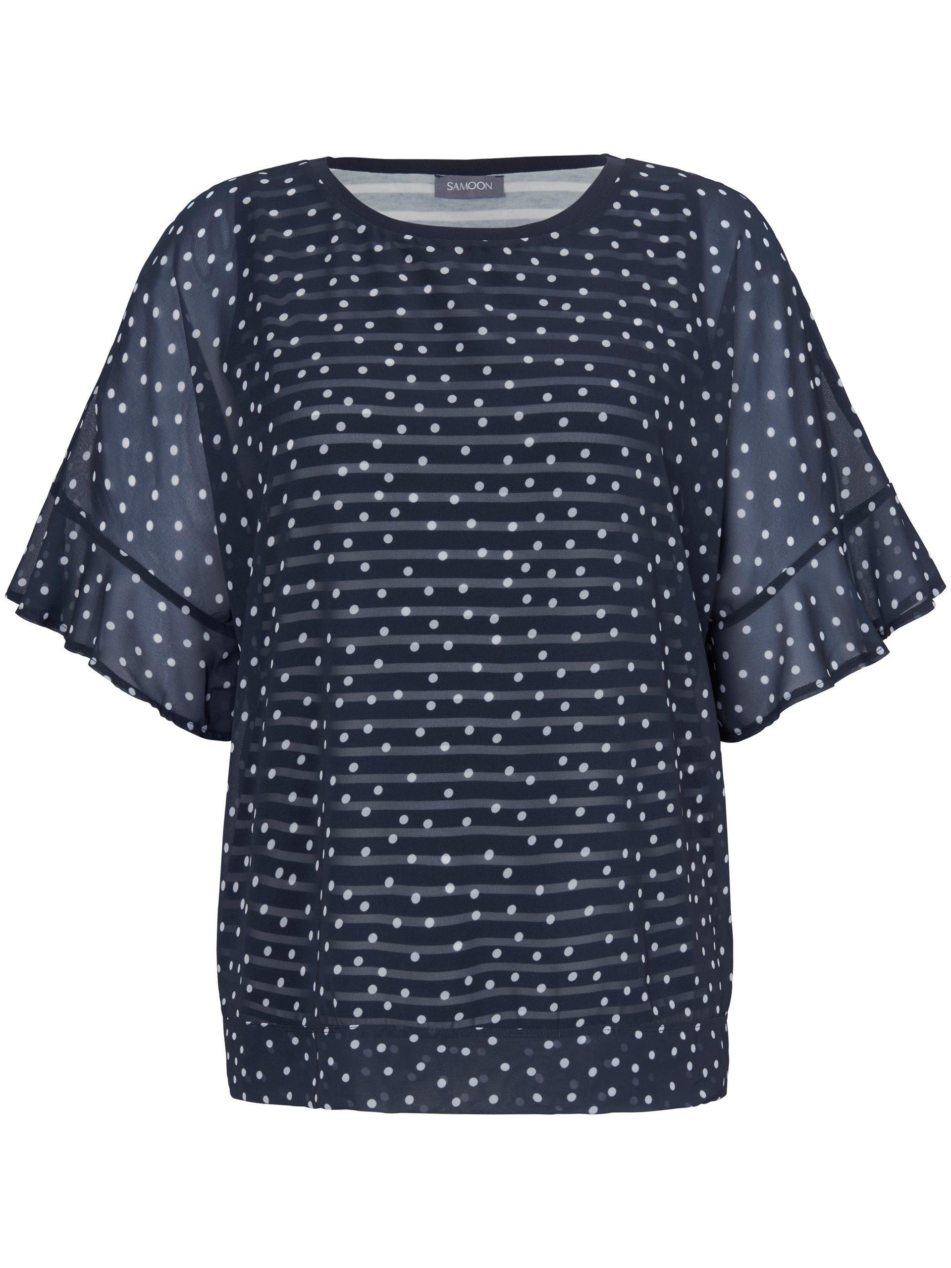 2-in-1-blouse met stippenprint Van Samoon multicolour Kopen