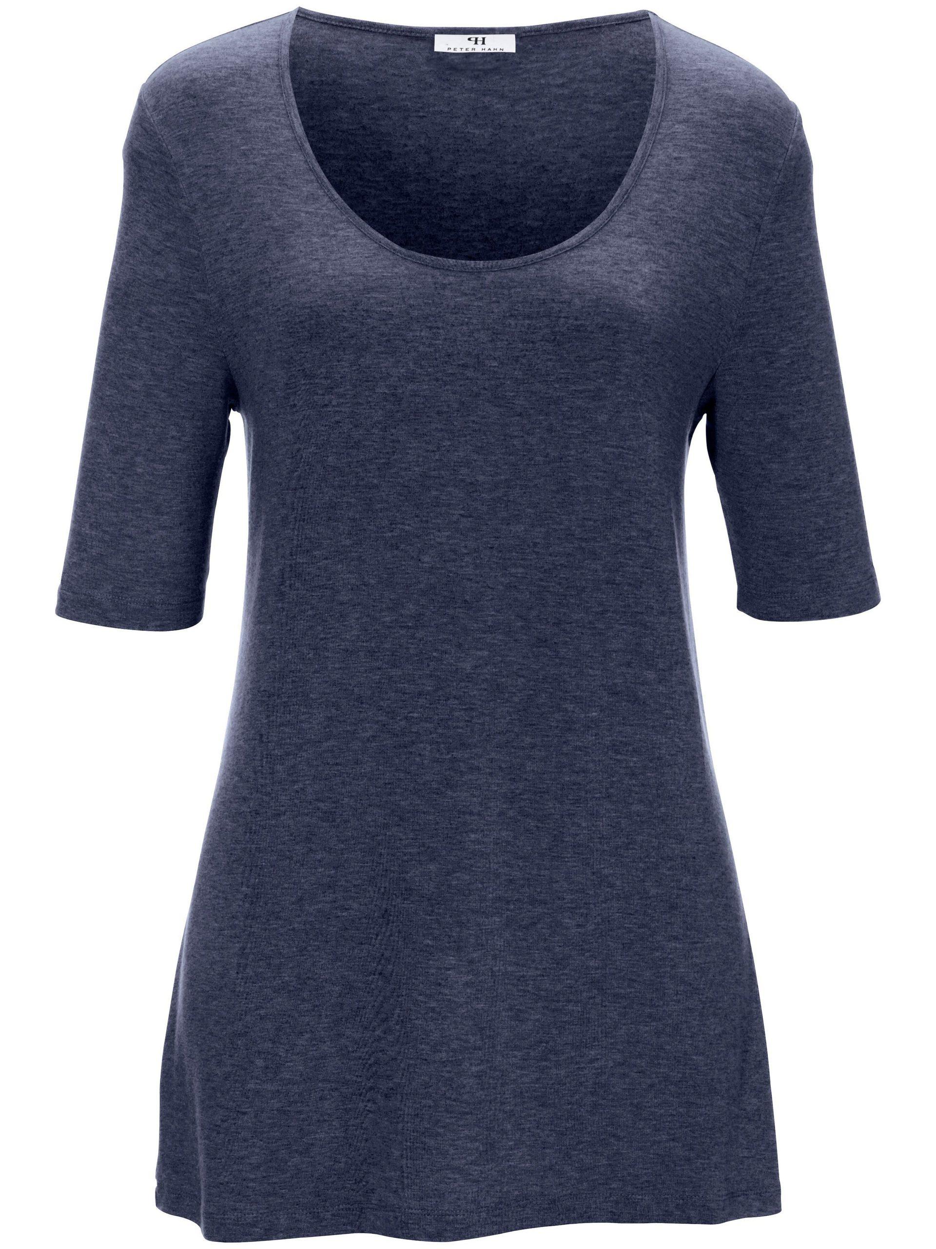 Shirt met ronde hals en korte mouwen Van Peter Hahn blauw Kopen