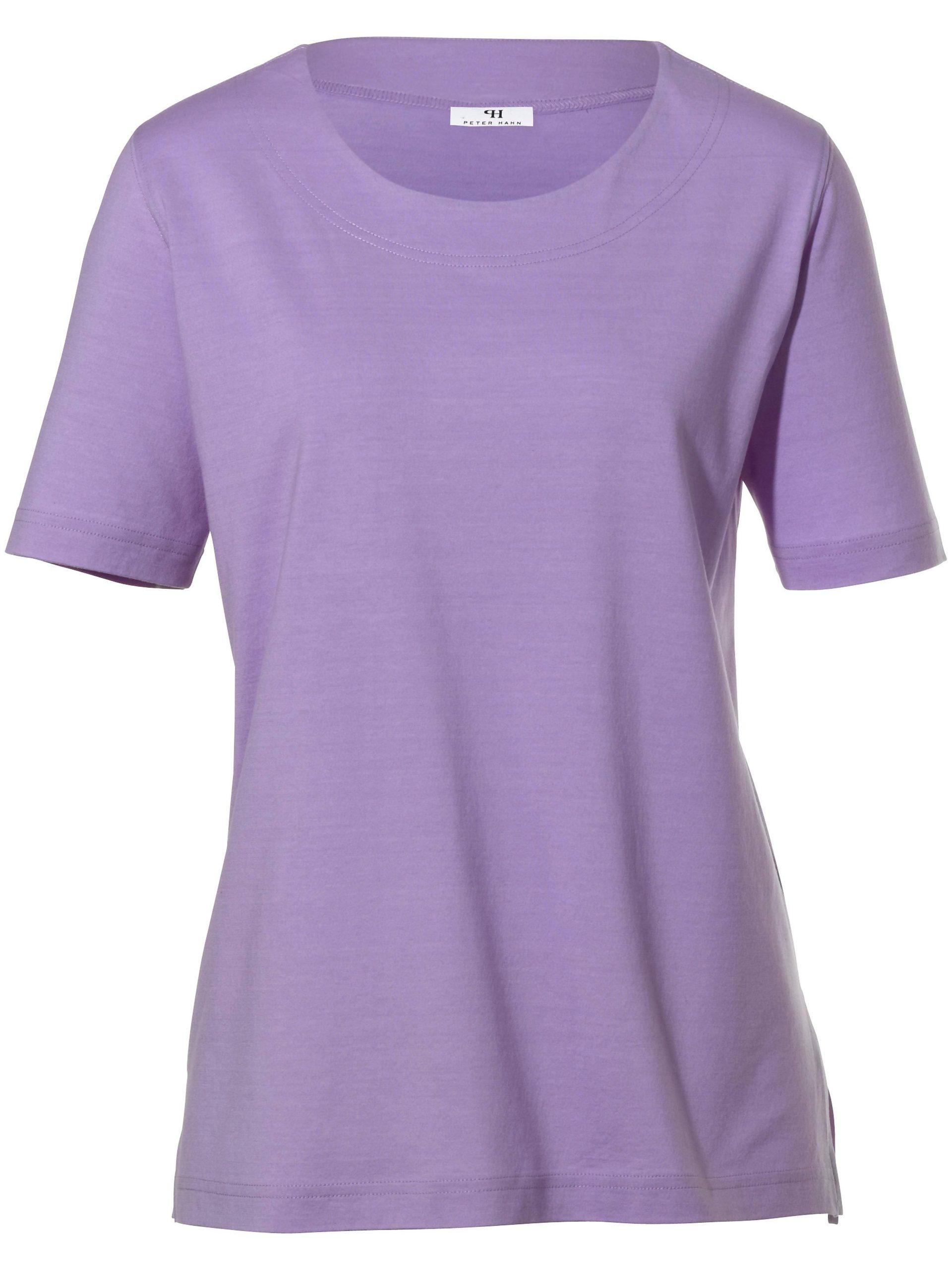 Shirt met ronde hals Van Peter Hahn paars Kopen