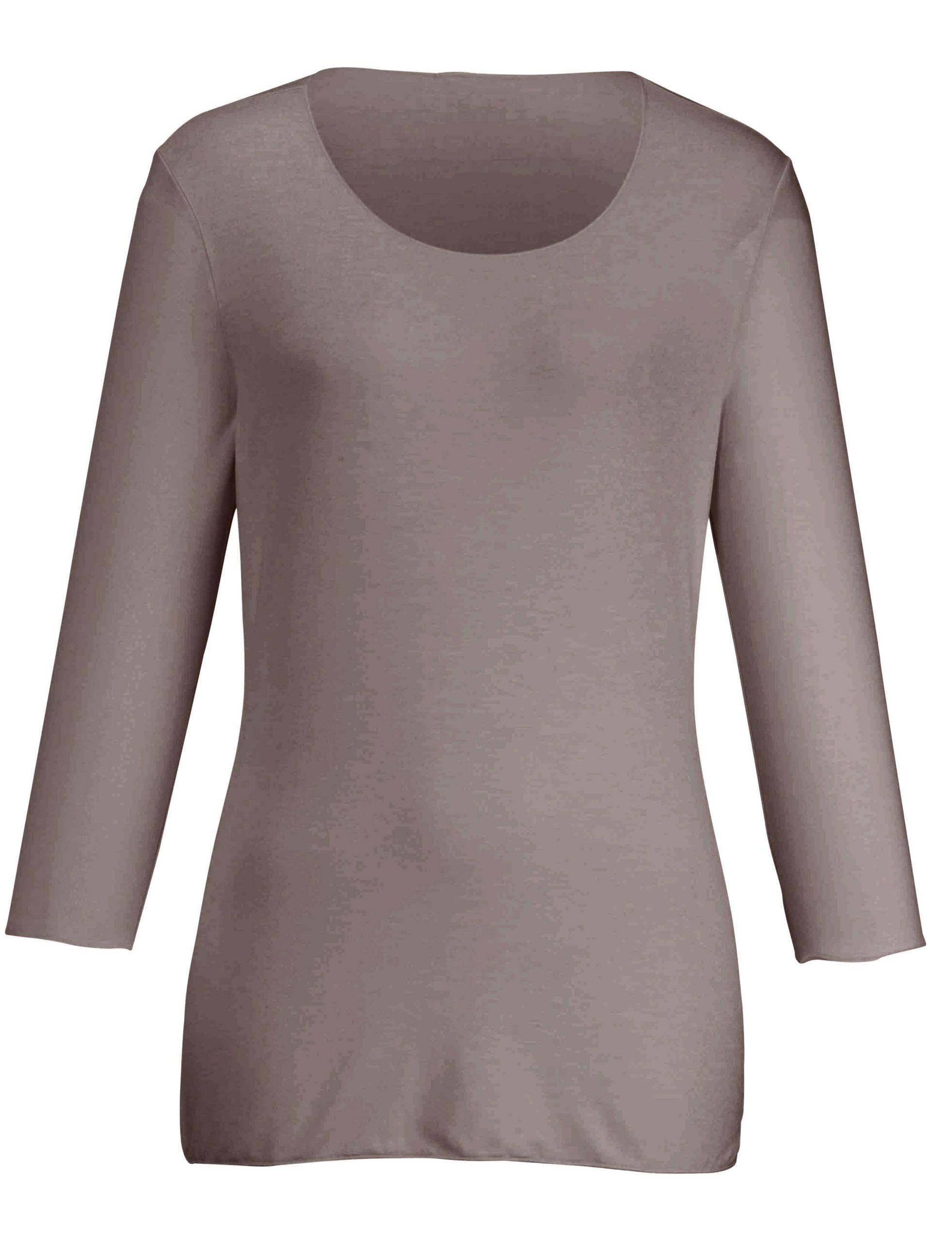 Shirt met 3/4-mouwen Van Peter Hahn beige Kopen