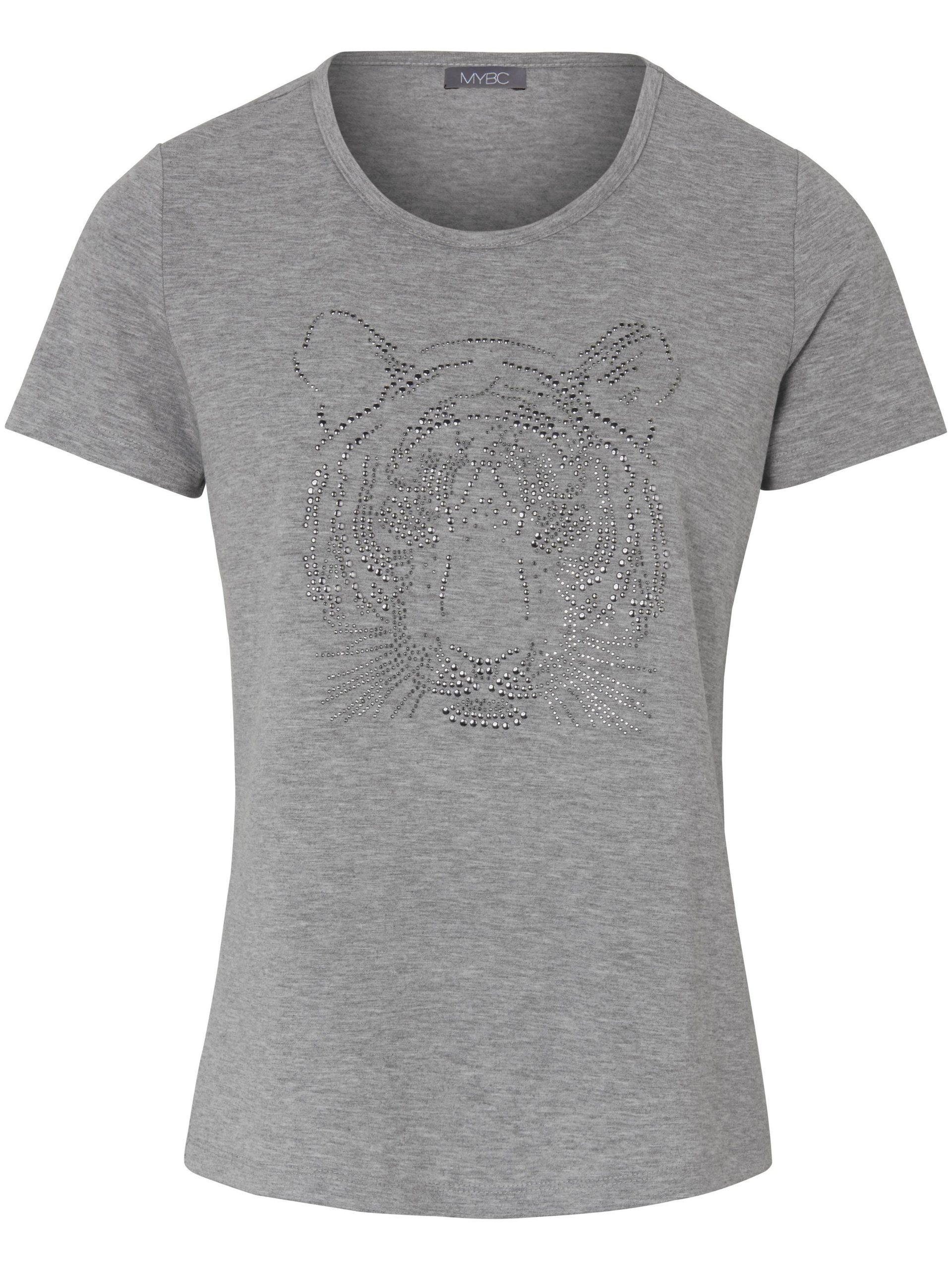 Shirt met ronde hals en korte mouwen Van MYBC grijs Kopen