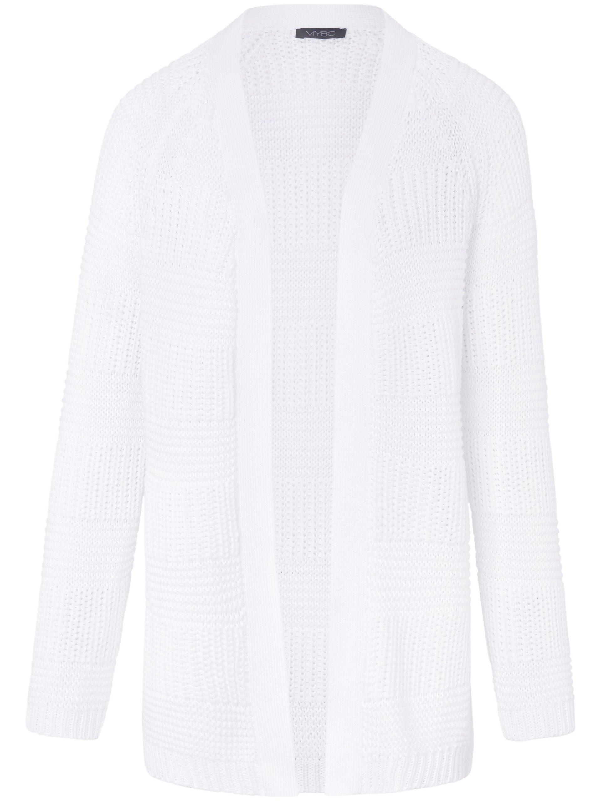 Lang vest van 100% katoen met lange mouwen Van MYBC wit Kopen