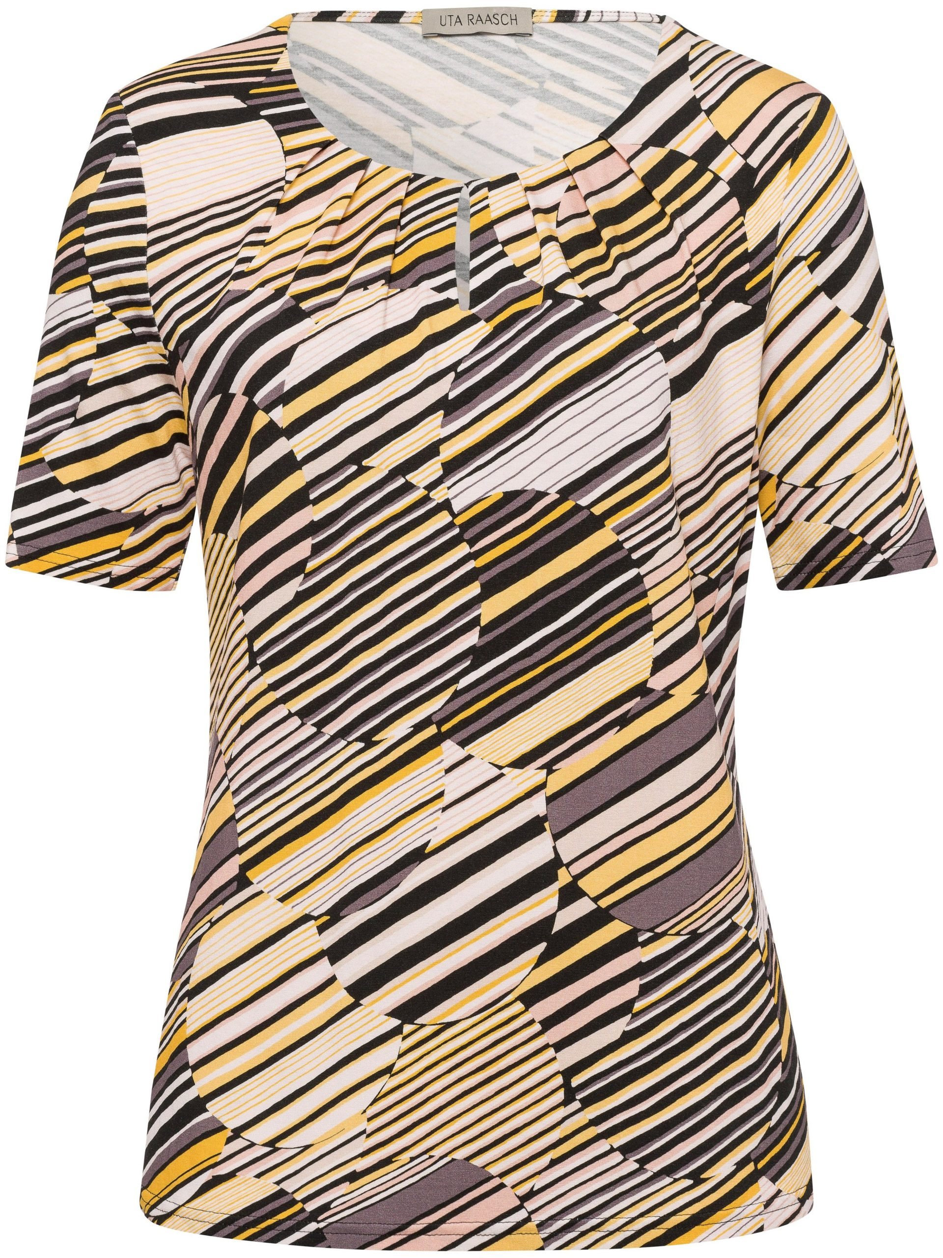 Shirt met ronde hals en korte mouwen Van Uta Raasch multicolour Kopen