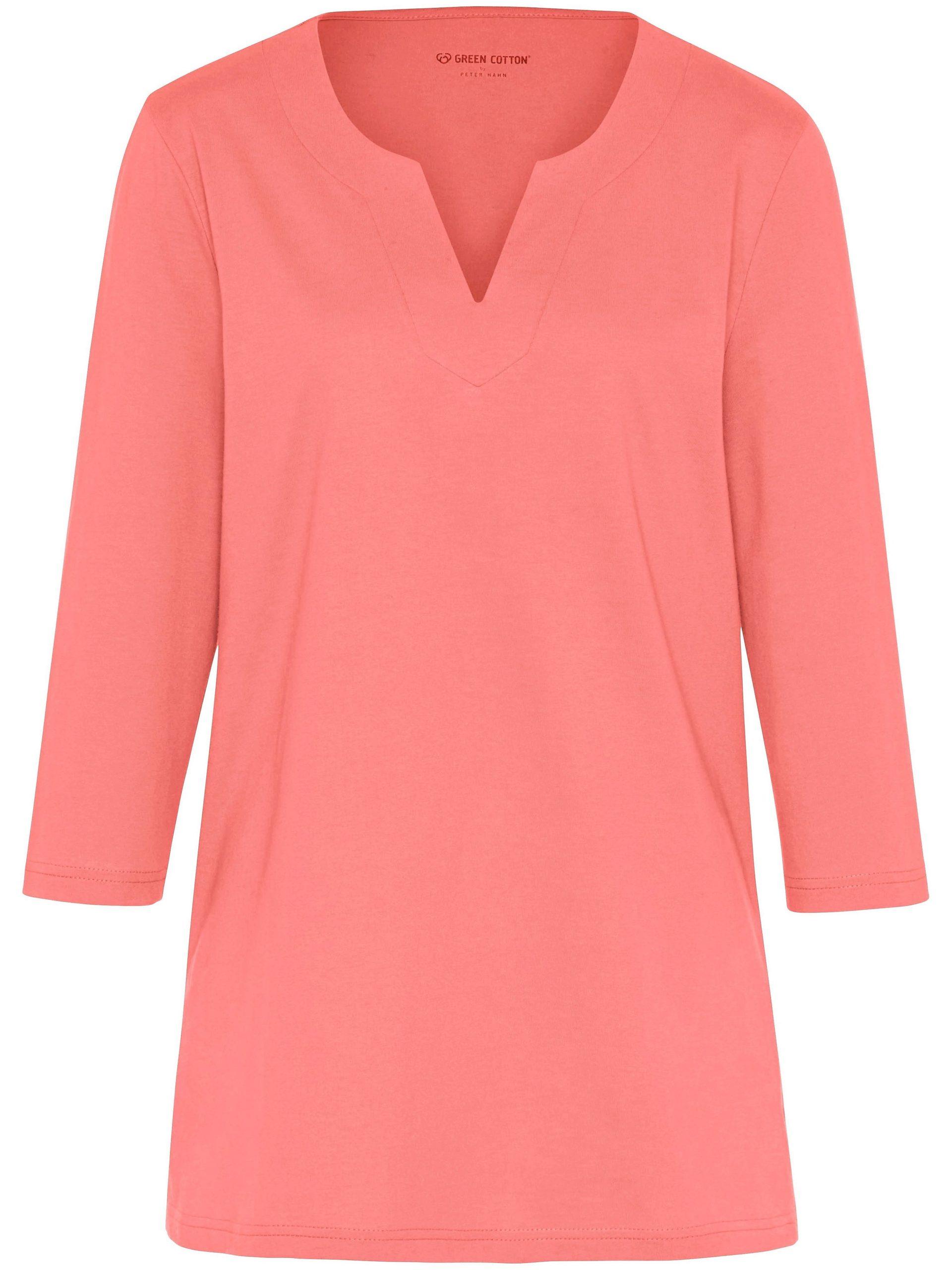 Shirt met 3/4-mouwen Van Green Cotton oranje Kopen