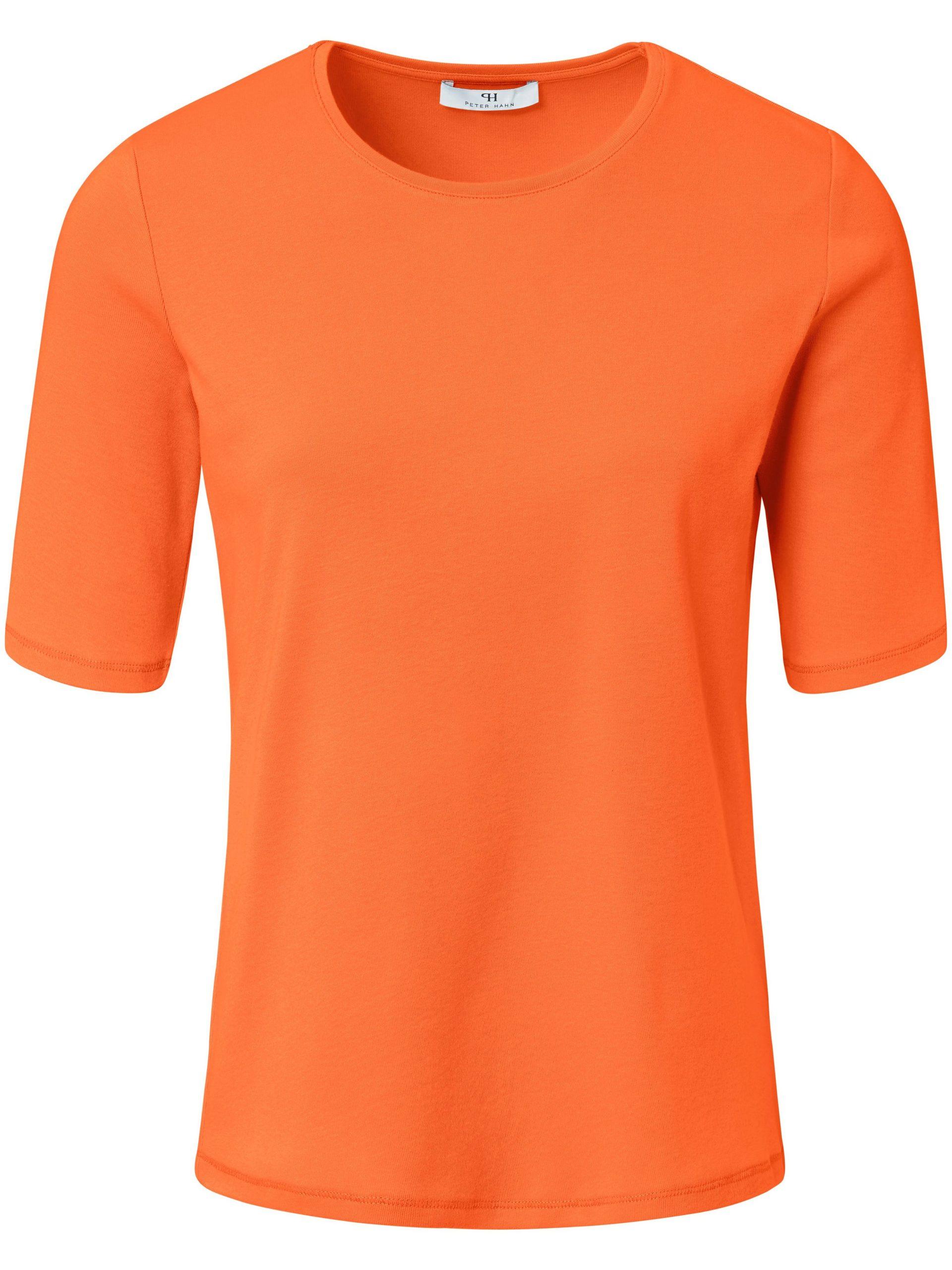 Shirt van 100% Pima Cotton met ronde hals Van Peter Hahn oranje Kopen