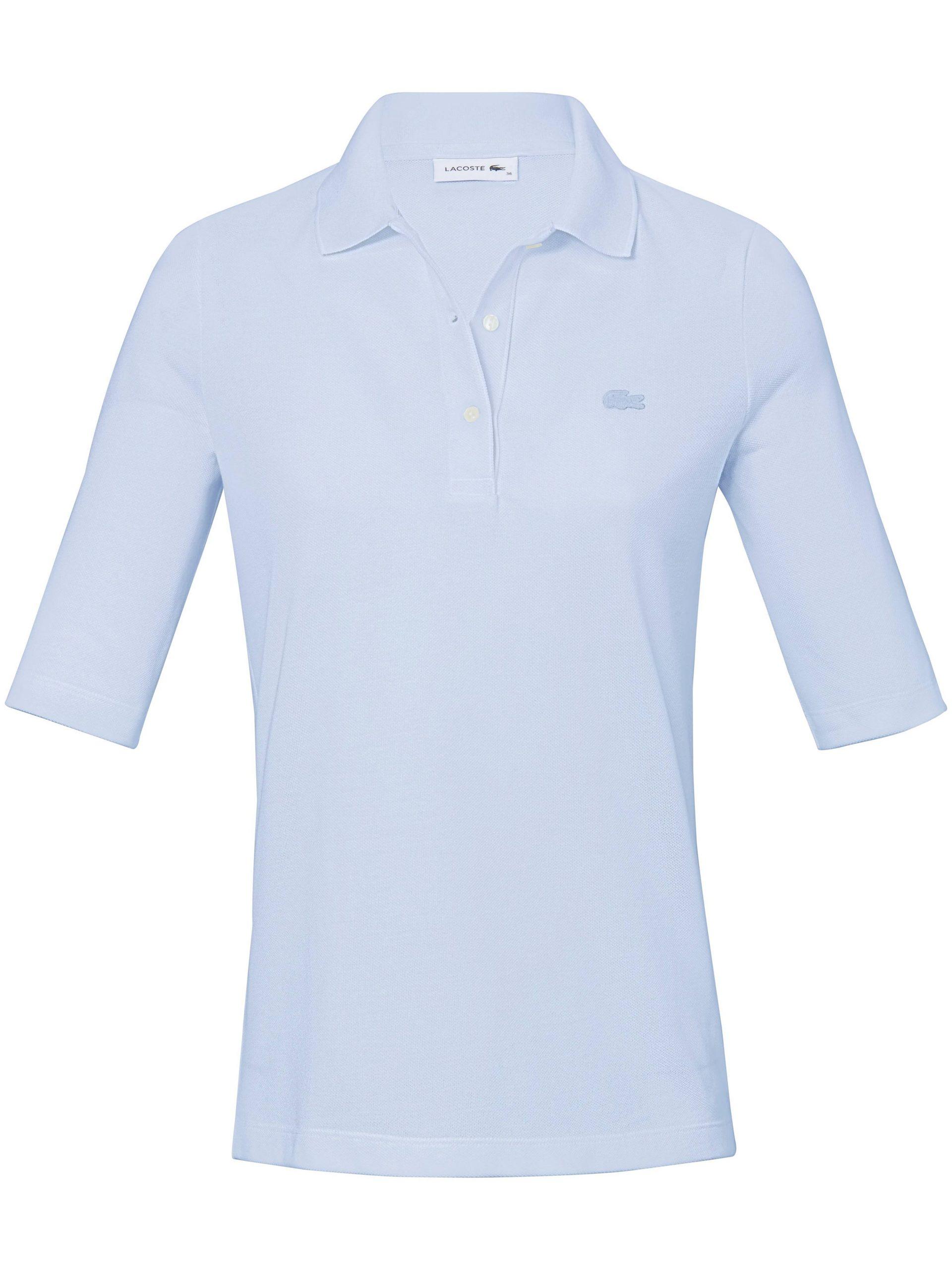 Poloshirt van 100% katoen met korte mouwen Van Lacoste blauw Kopen