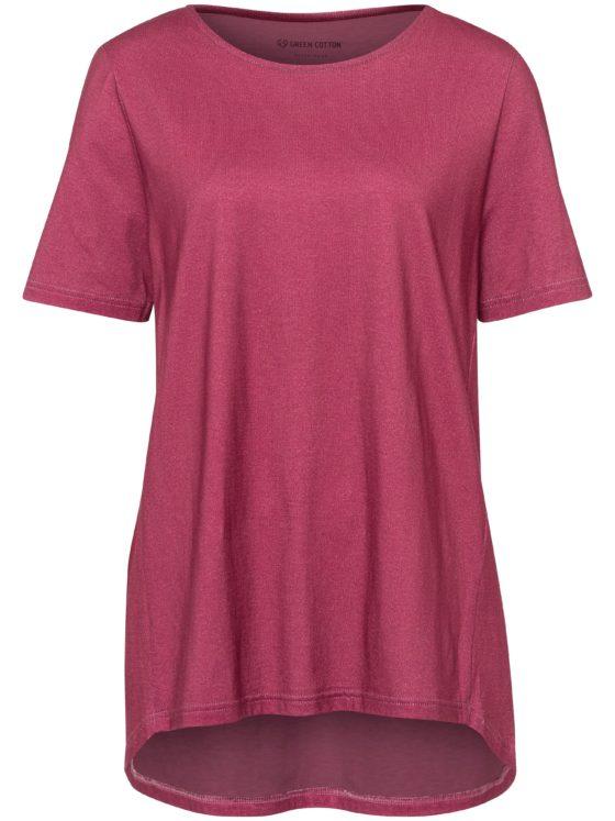 Shirt van 100% katoen met korte mouwen Van Green Cotton paars Kopen