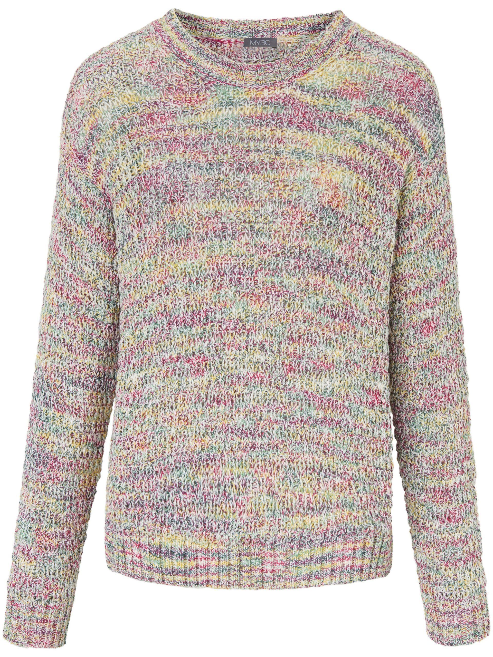 Trui met ronde hals en lange mouwen Van MYBC multicolour Kopen