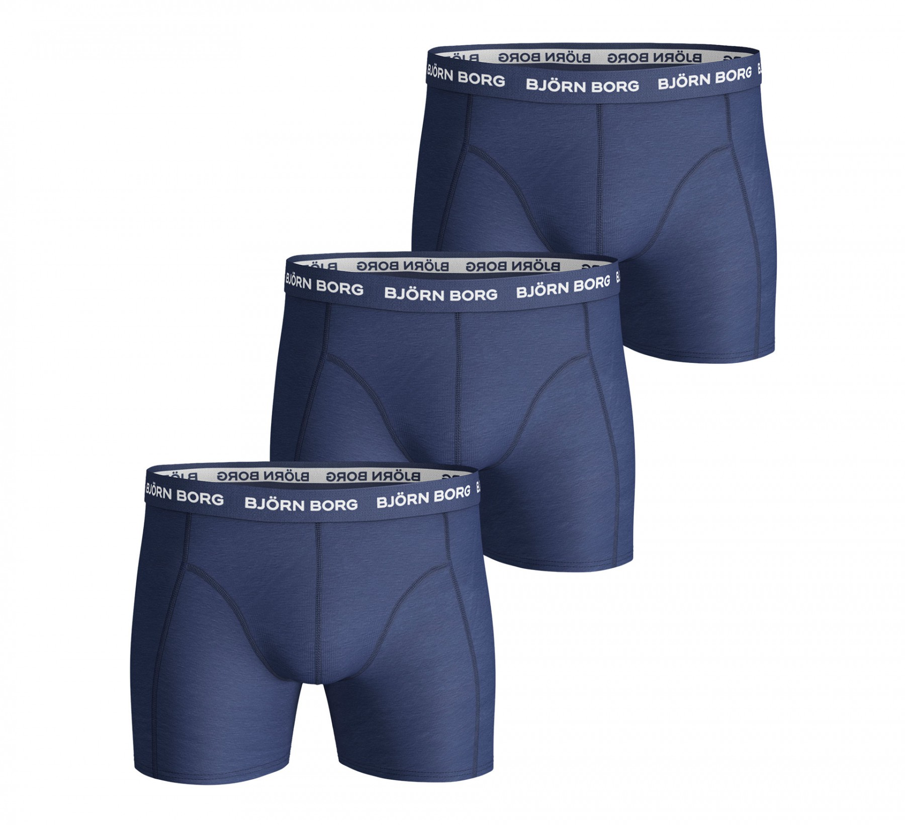 3-Pack Boxers Solids Navy