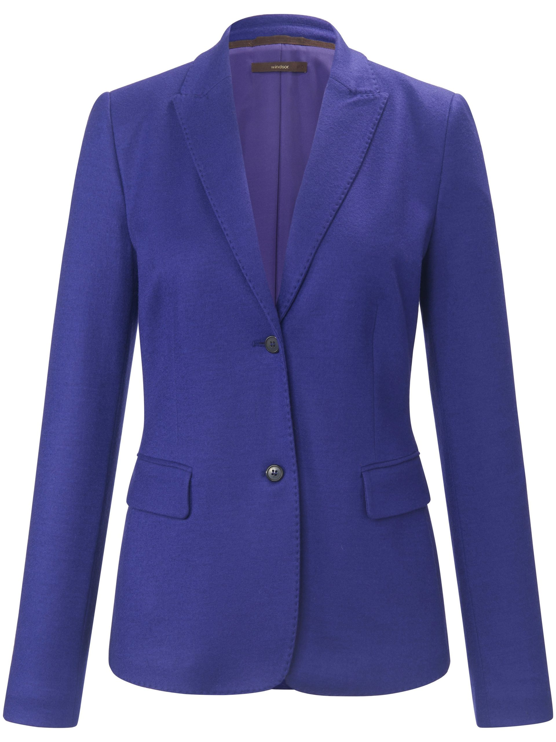 Jerseyblazer 100% wol blind rugsplit Van Windsor paars Kopen
