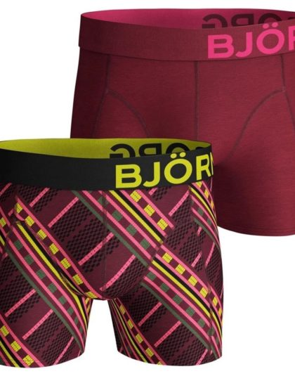 2-Pack Boxers Massai Beet Red