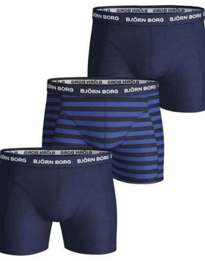 3-Pack Boxers Peacoat Striped