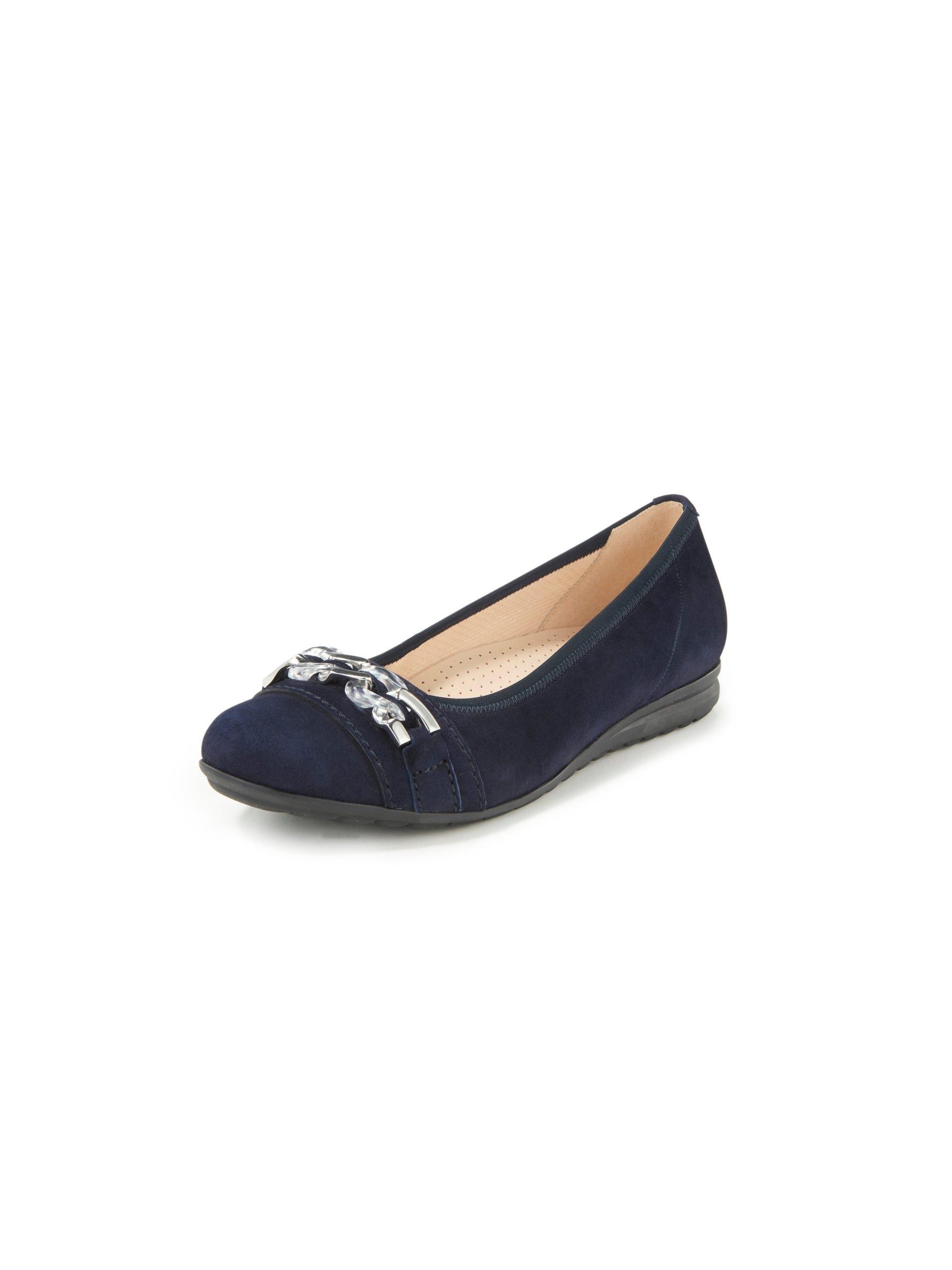 Ballerina's leer Easy Walking-systeem Van Gabor Comfort blauw Kopen