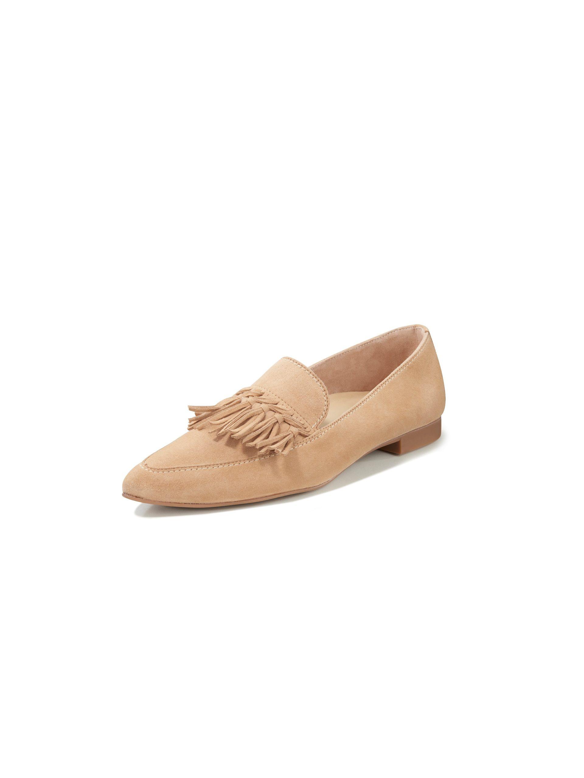 Ballerina's geitensuèdeleer Van Paul Green beige Kopen