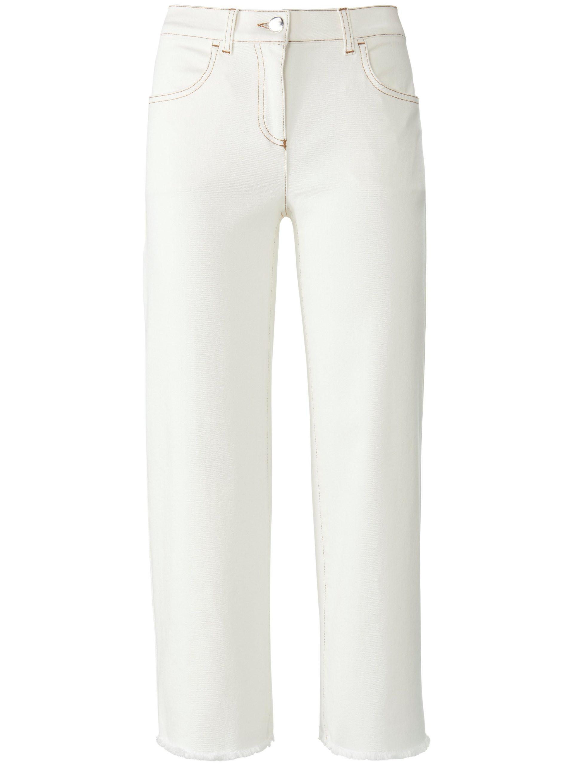 7/8-jeans-culotte franjezoom Van DAY.LIKE wit Kopen