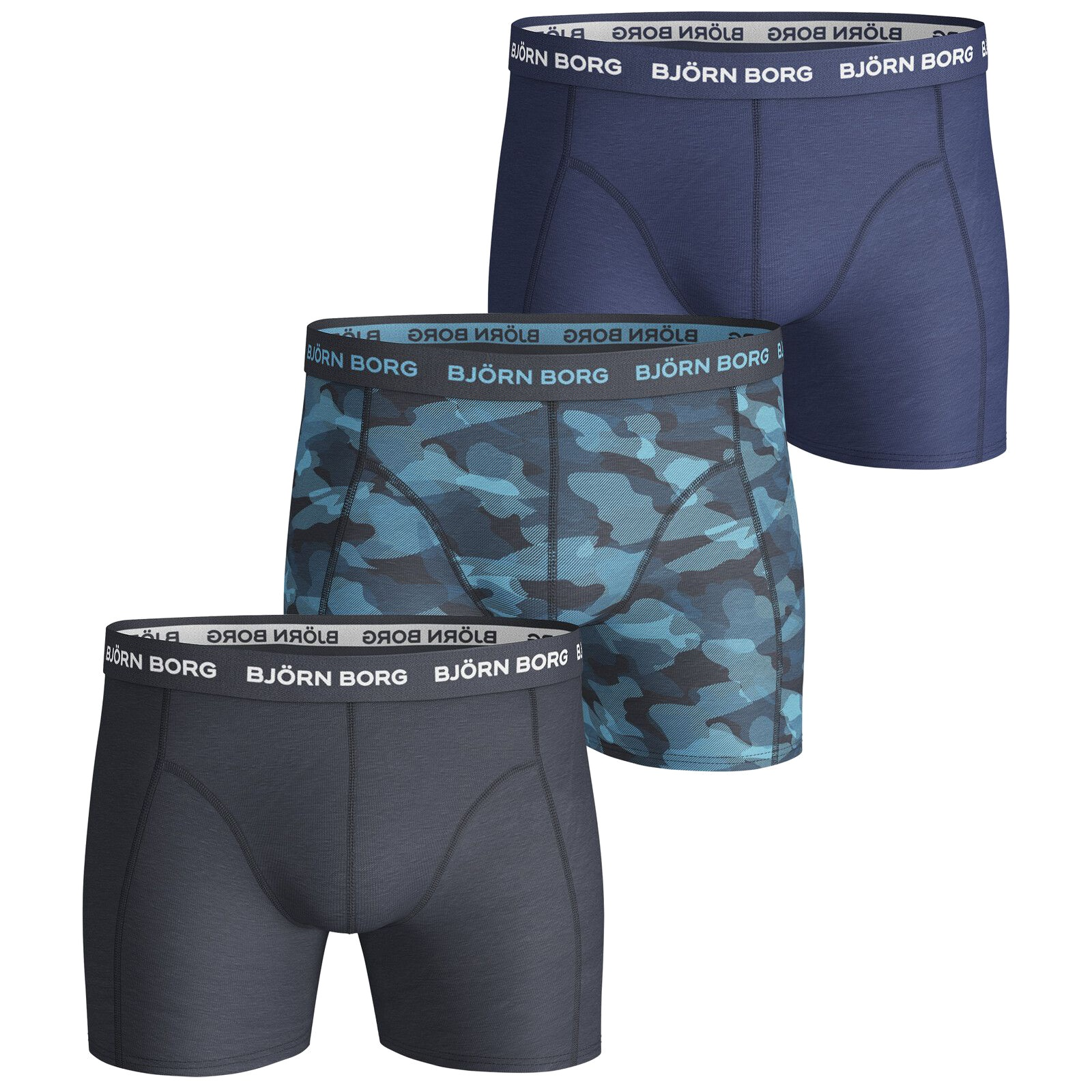 3-Pack Boxers Total Eclipse Shade