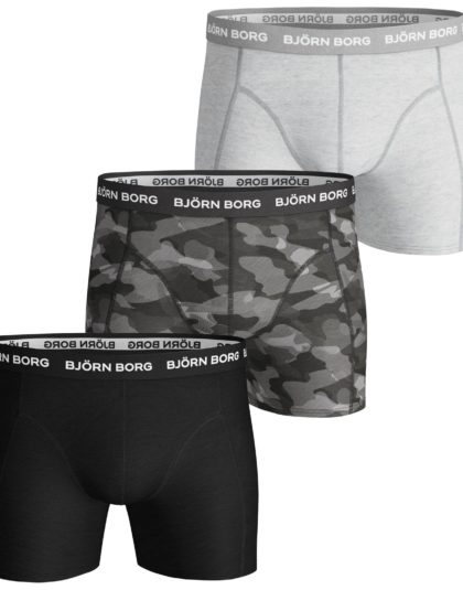 3-Pack Boxers Shadeline Camo Grey