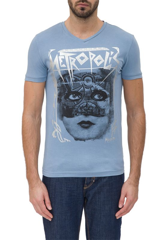 7024 METROPOLIS – Antony Morato – T-shirts – Blauw Kopen